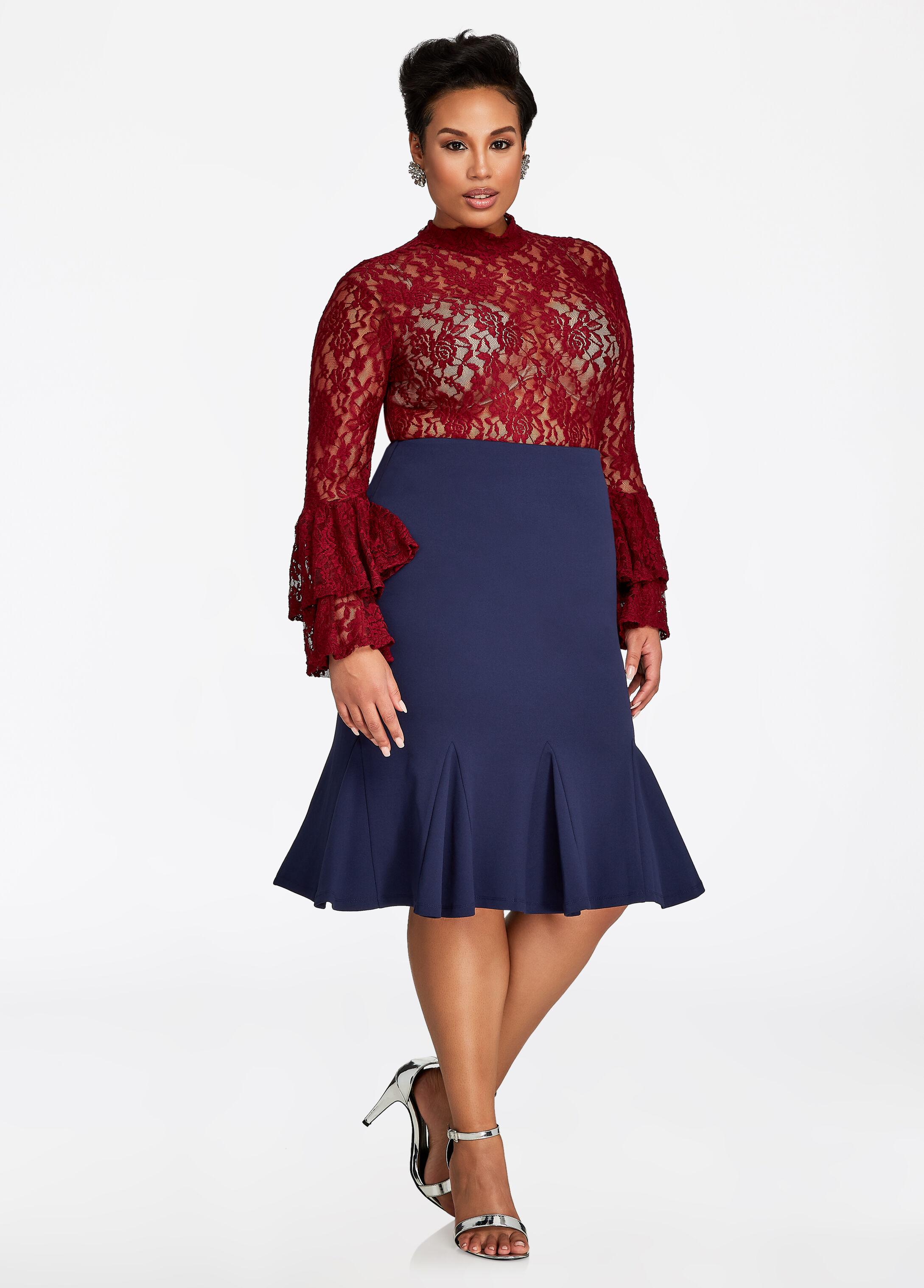 Pull-On Godet Skirt
