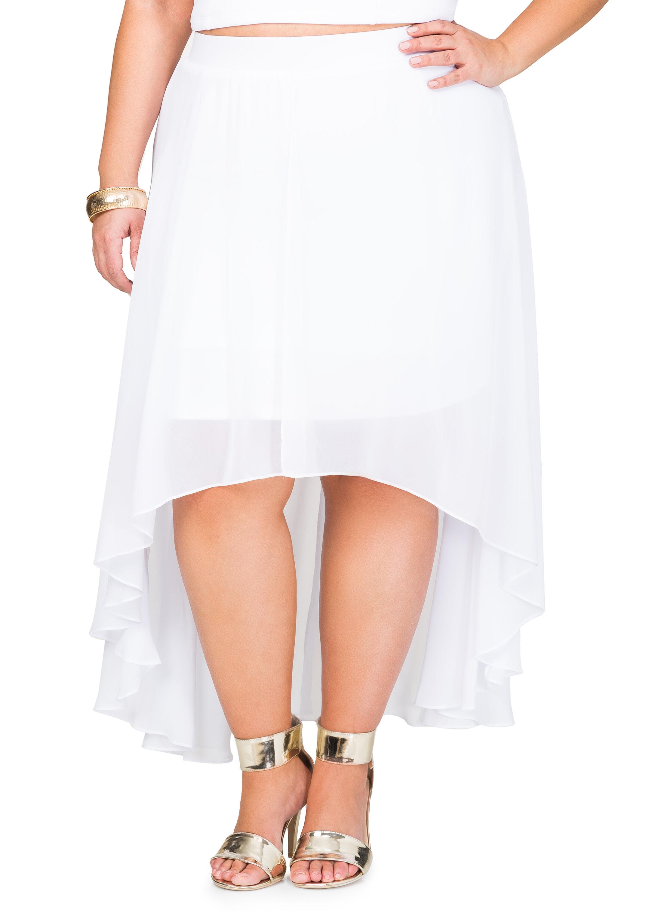 Flyaway Chiffon Scuba Skirt