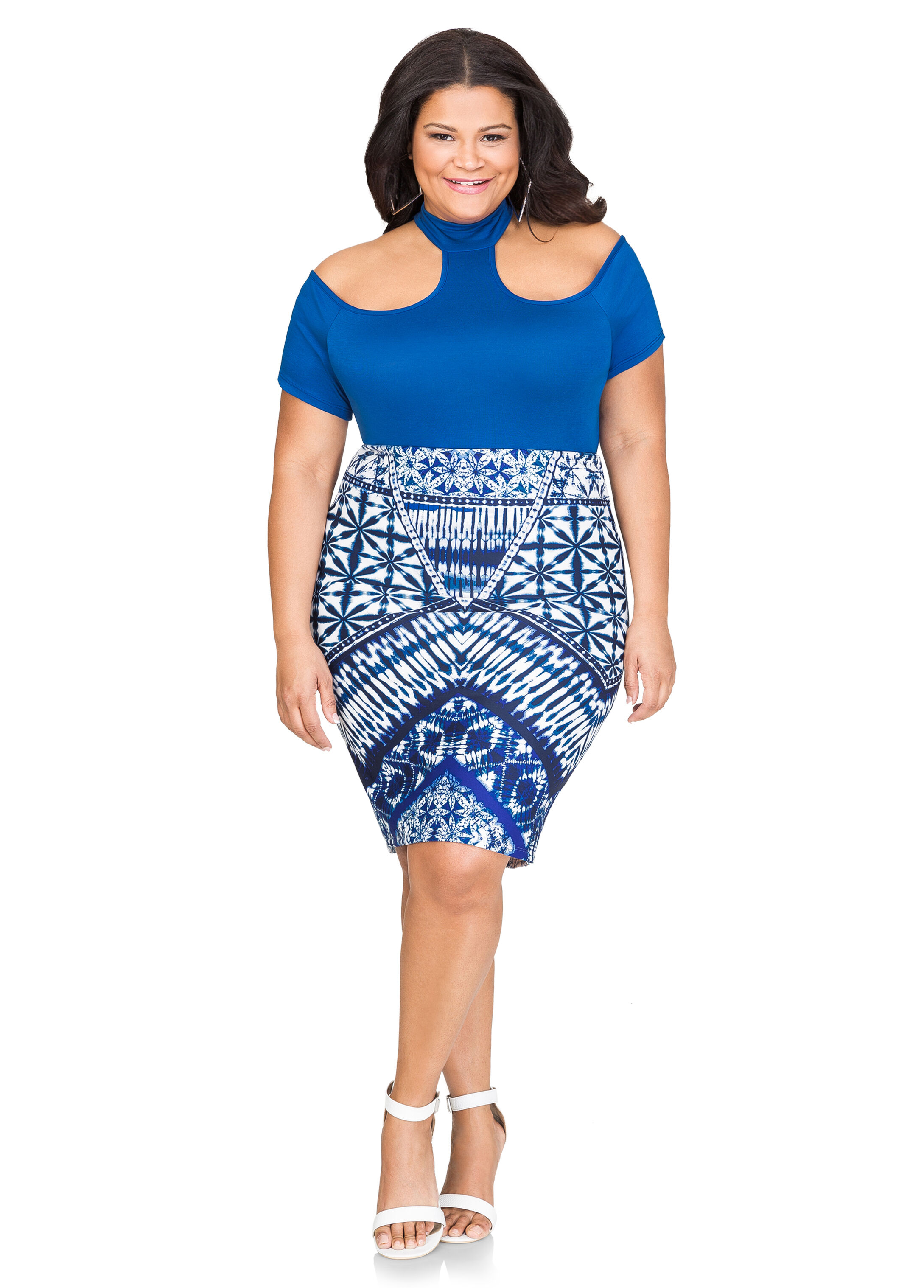 Batik Print Pencil Skirt
