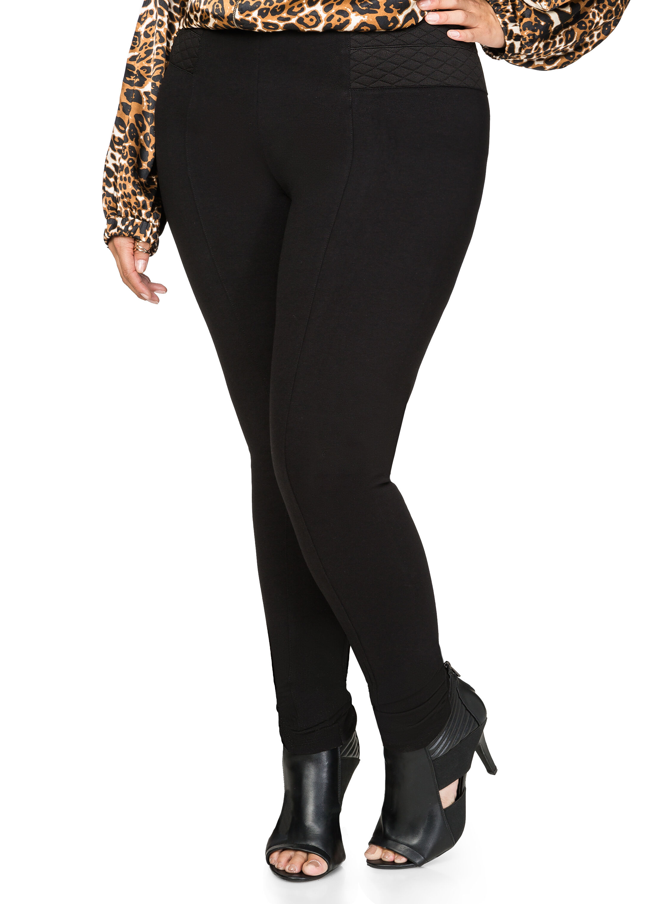 Quilted Waist Ponte Pant