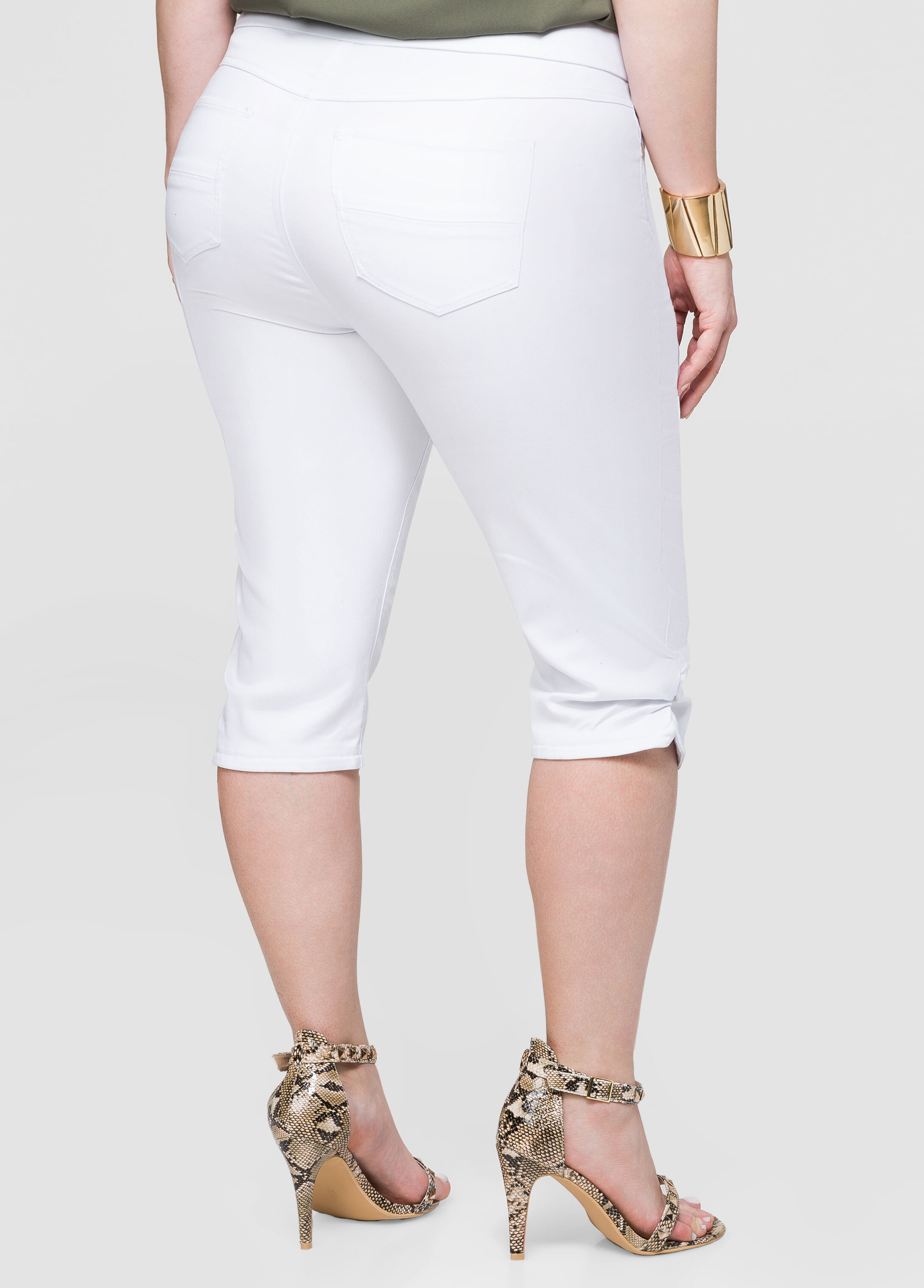 Pull-On Ruched Skimmer Pant