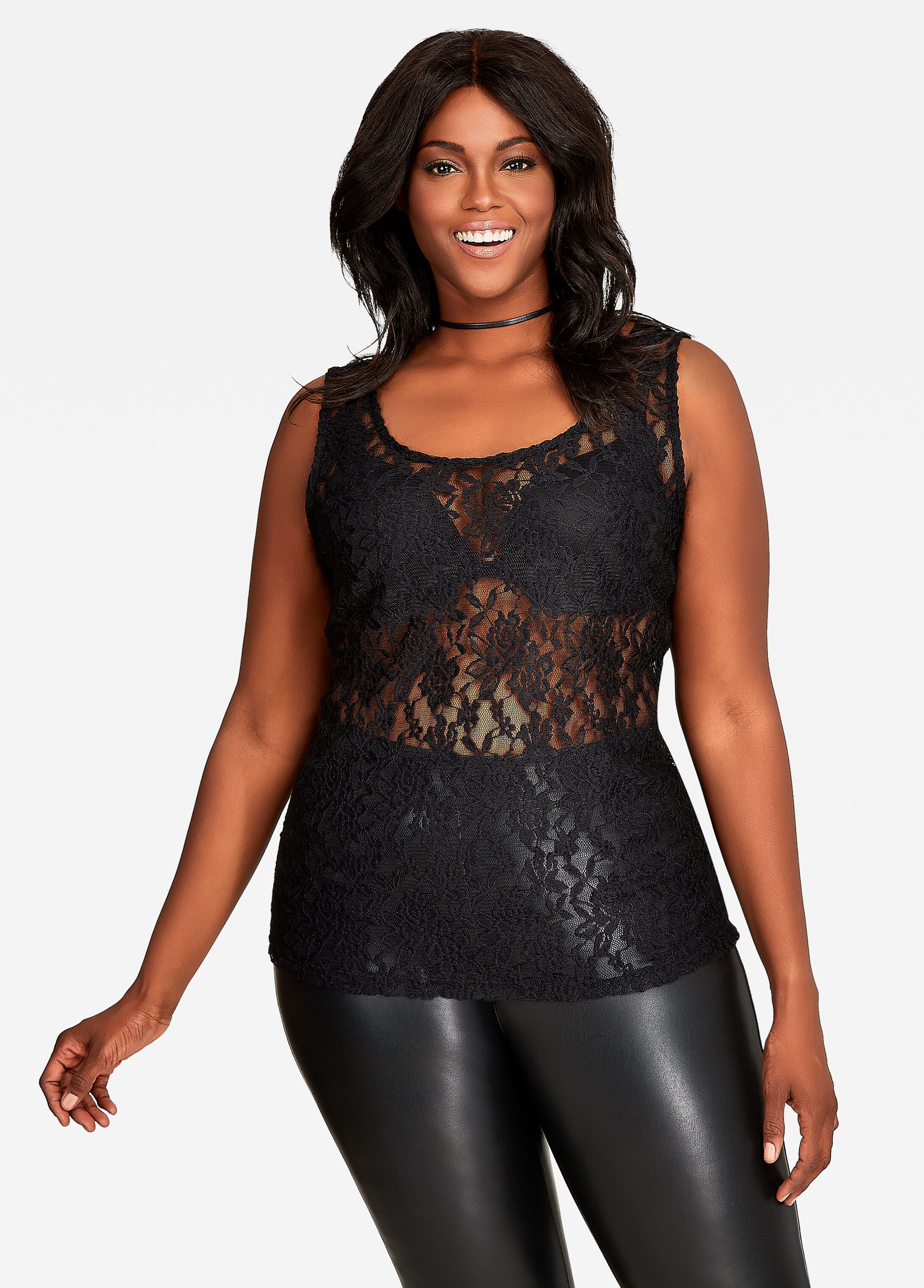 All Over Floral Lace Fashion Cami
