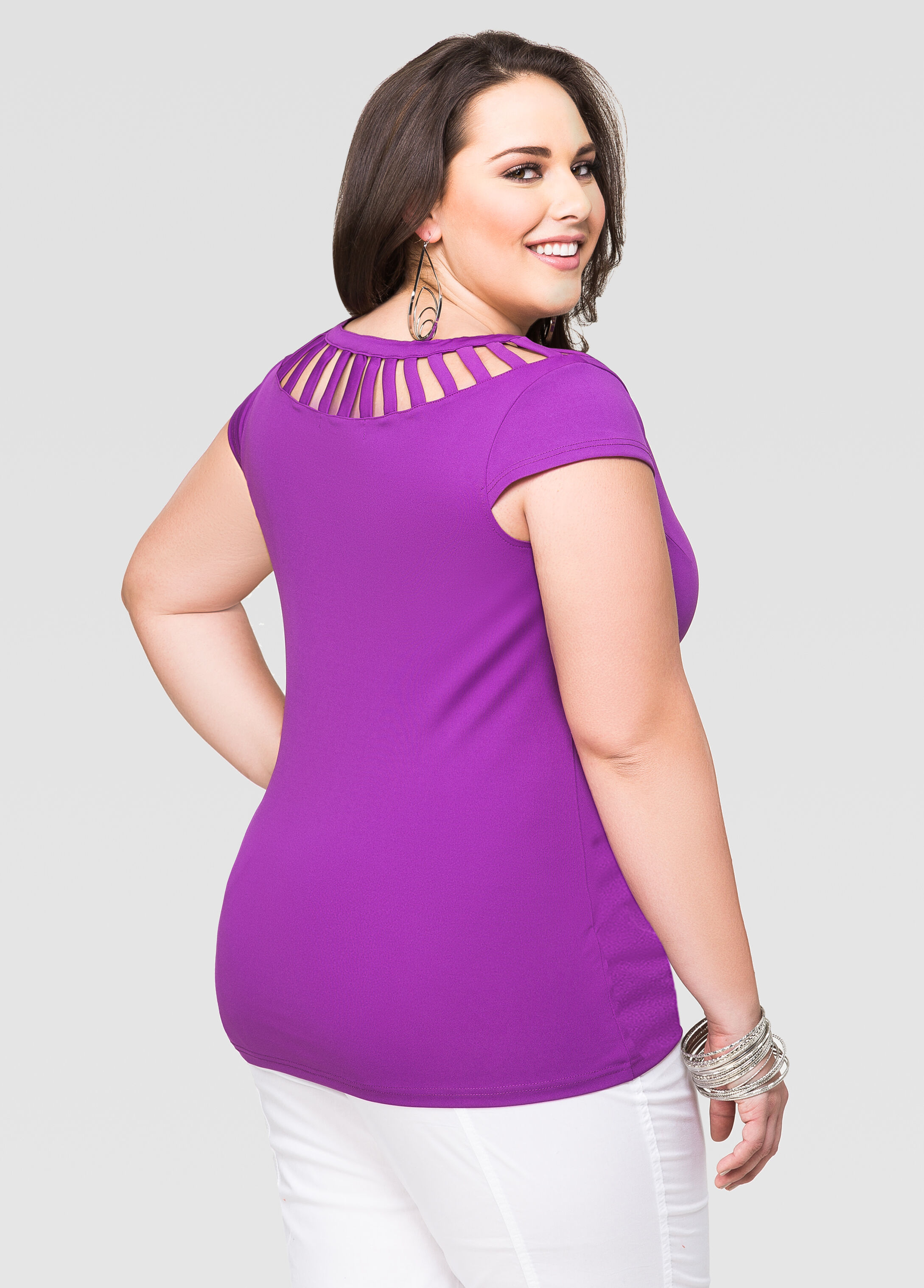Cap Sleeve Cage Top