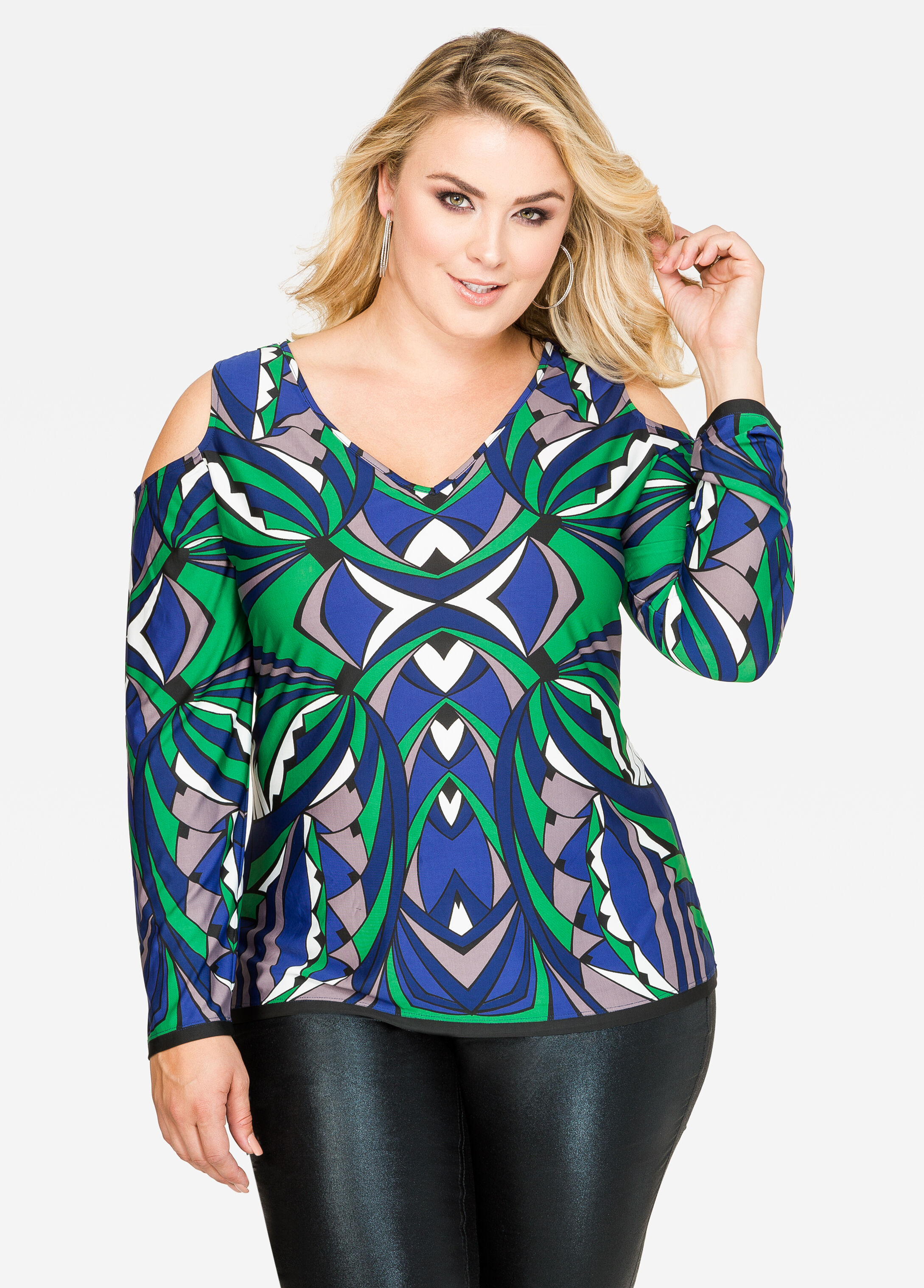 Stained Glass Cold Shoulder Top