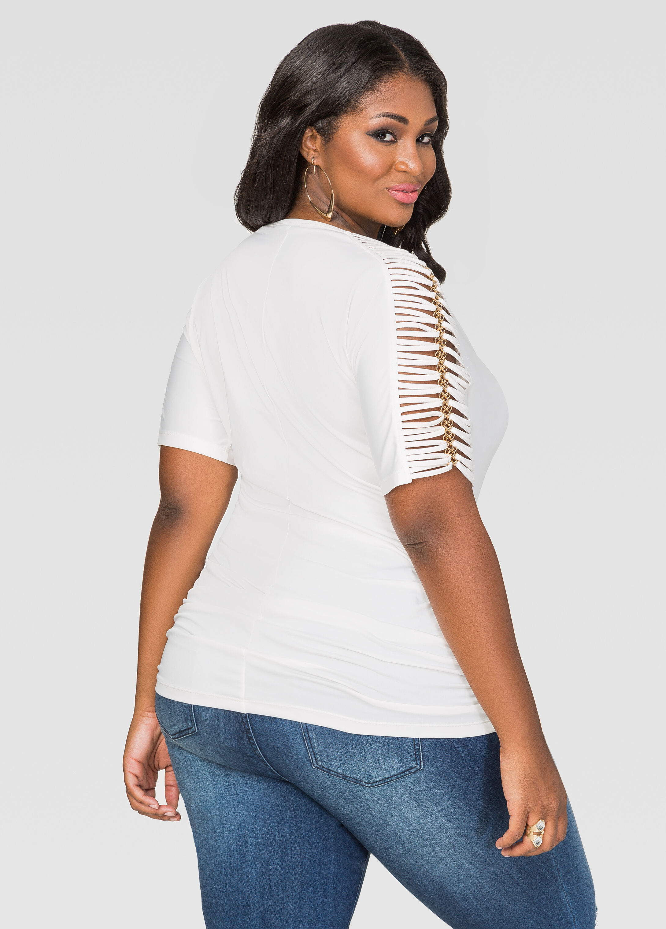 Strappy Chain Sleeve Top