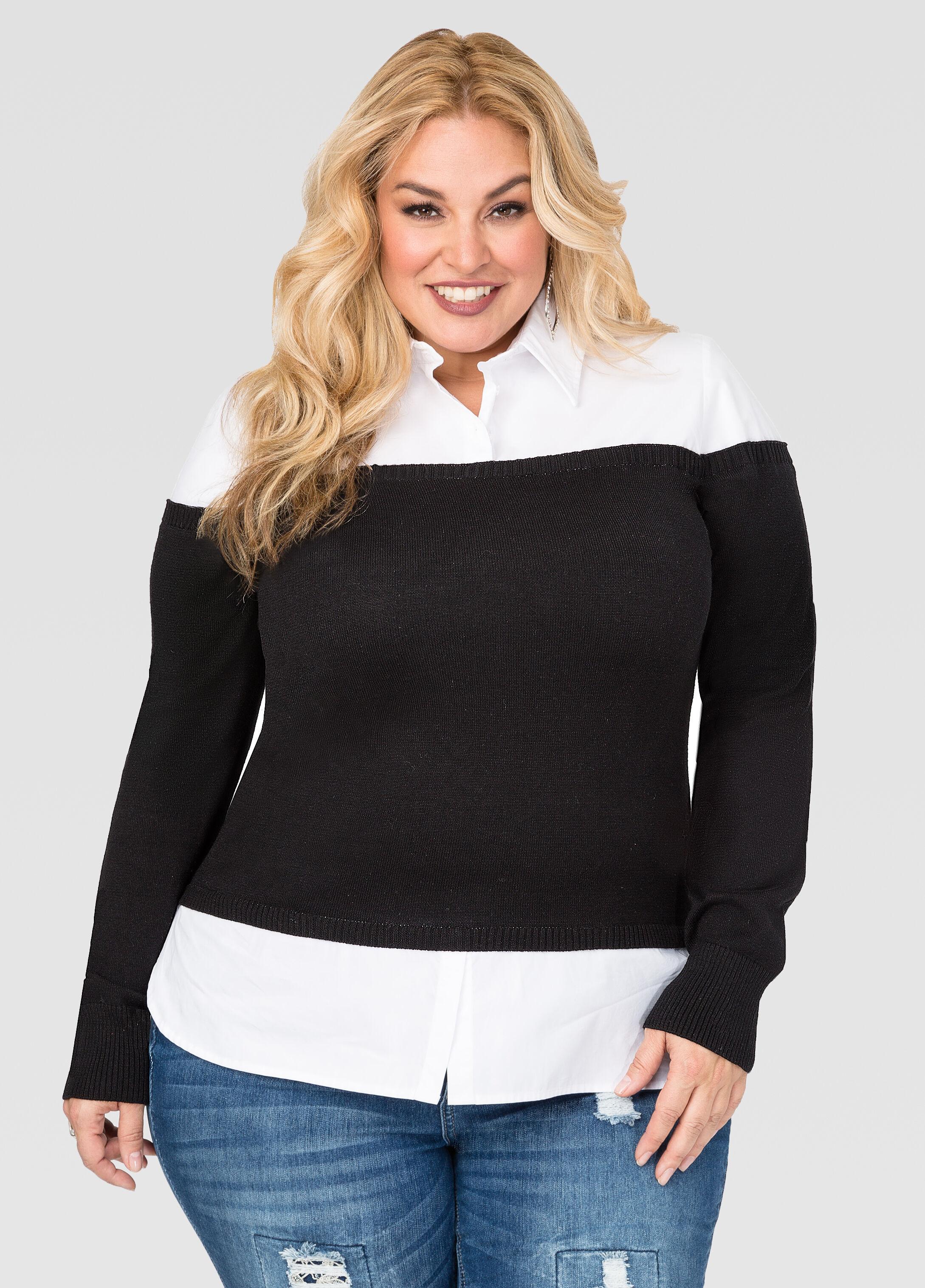 Off-Shoulder Sweater Shirt