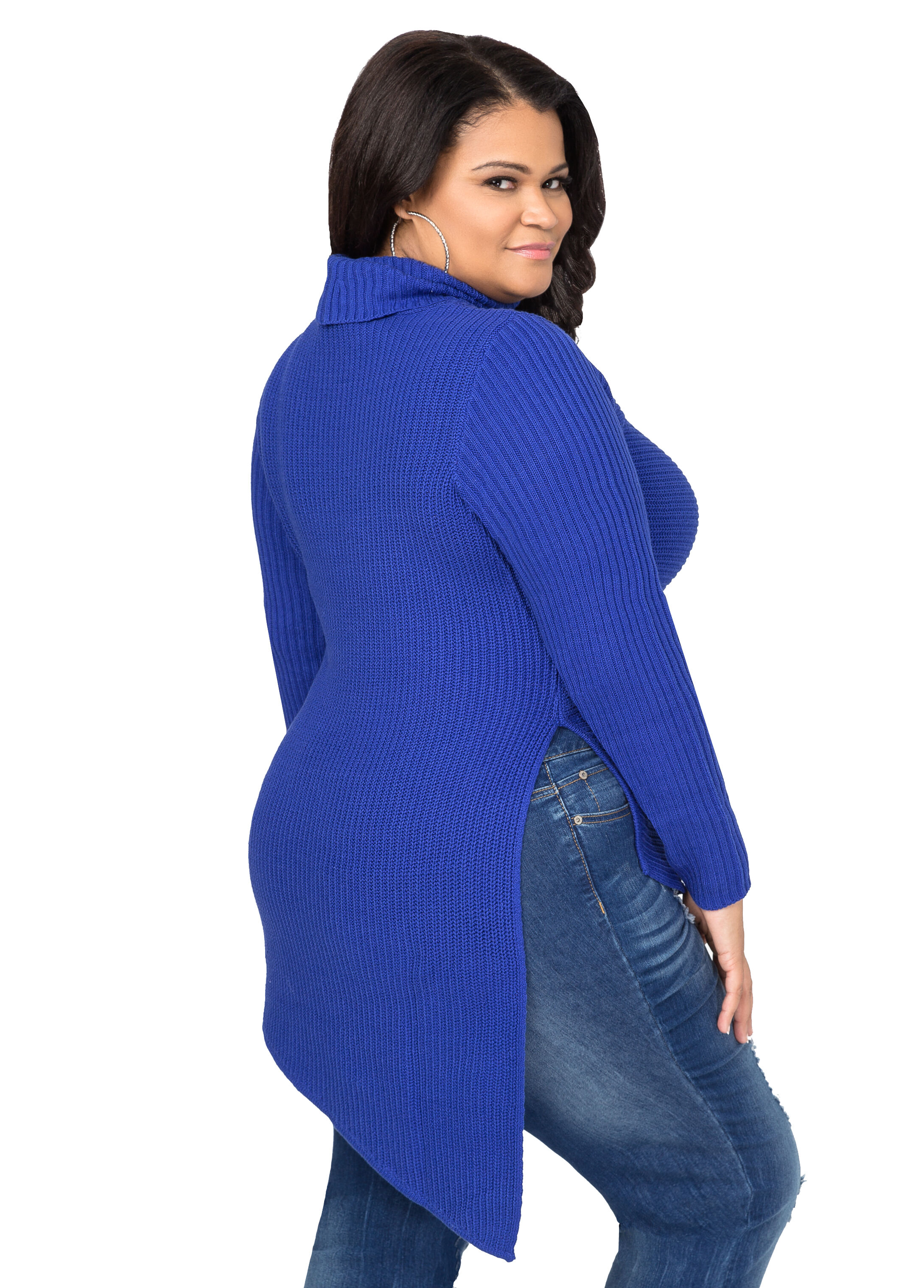 Chunky Ribbed Asymmetrical Sweater