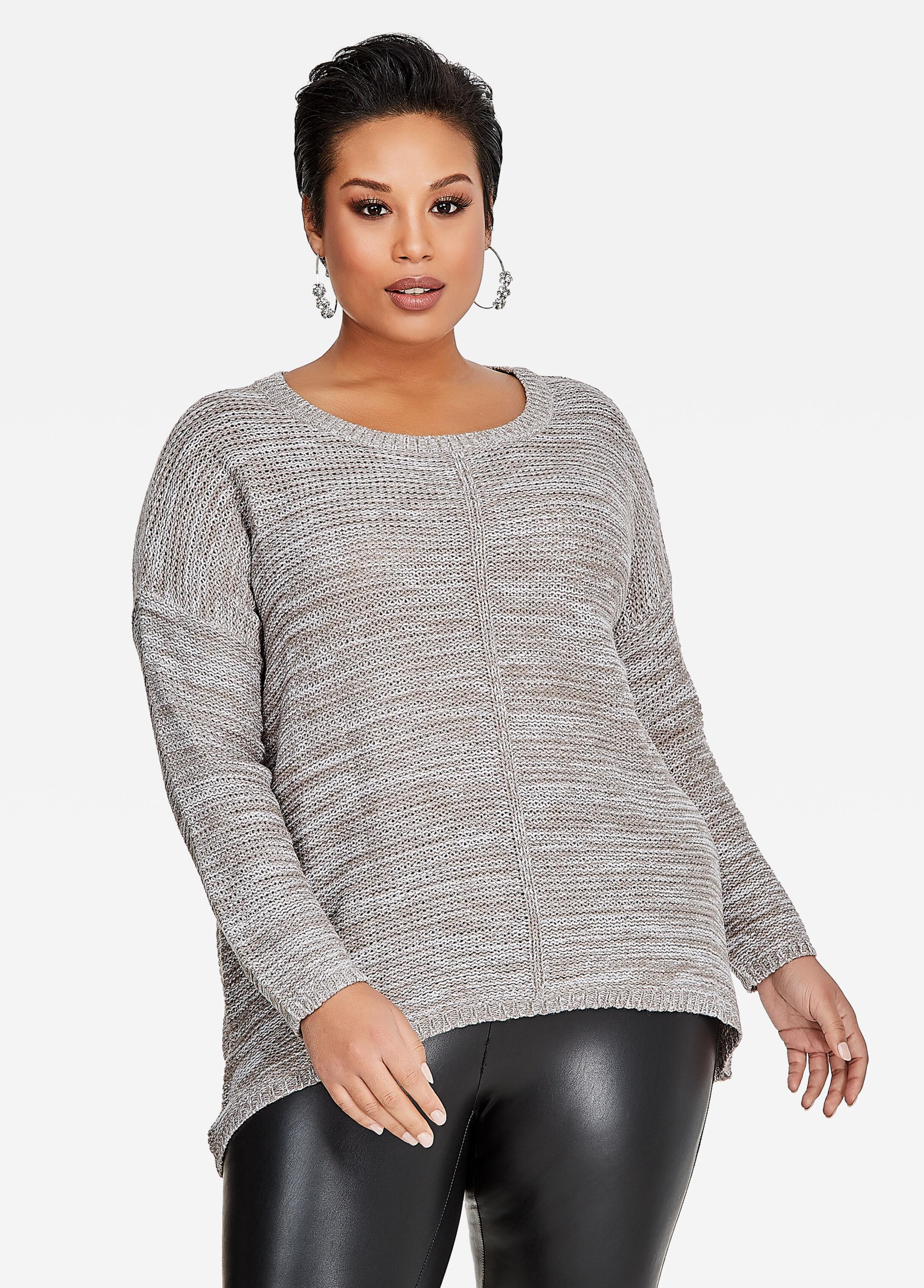 Oversized Hi-Lo Knit Sweater