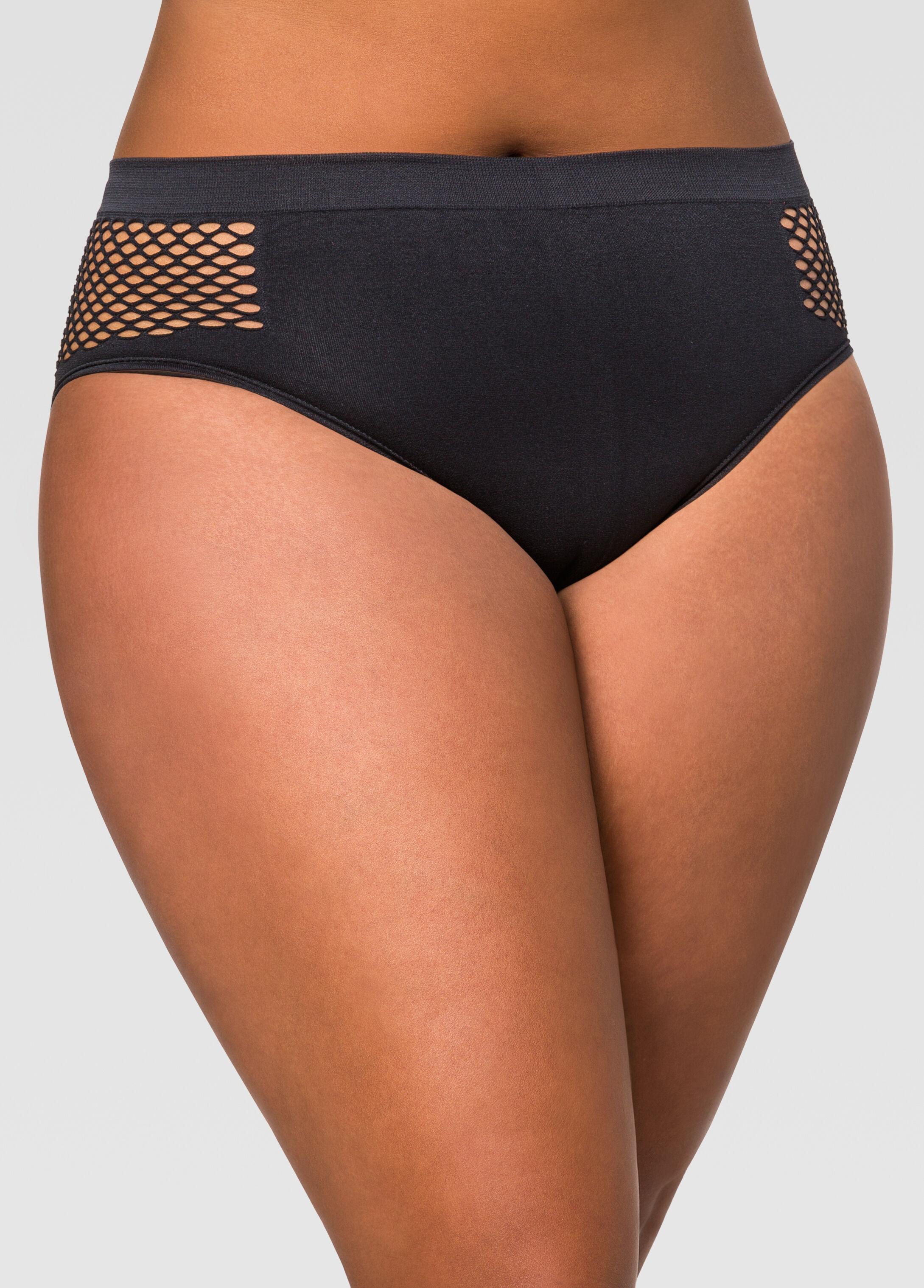 Seamless Mesh Insert Bikini Panty