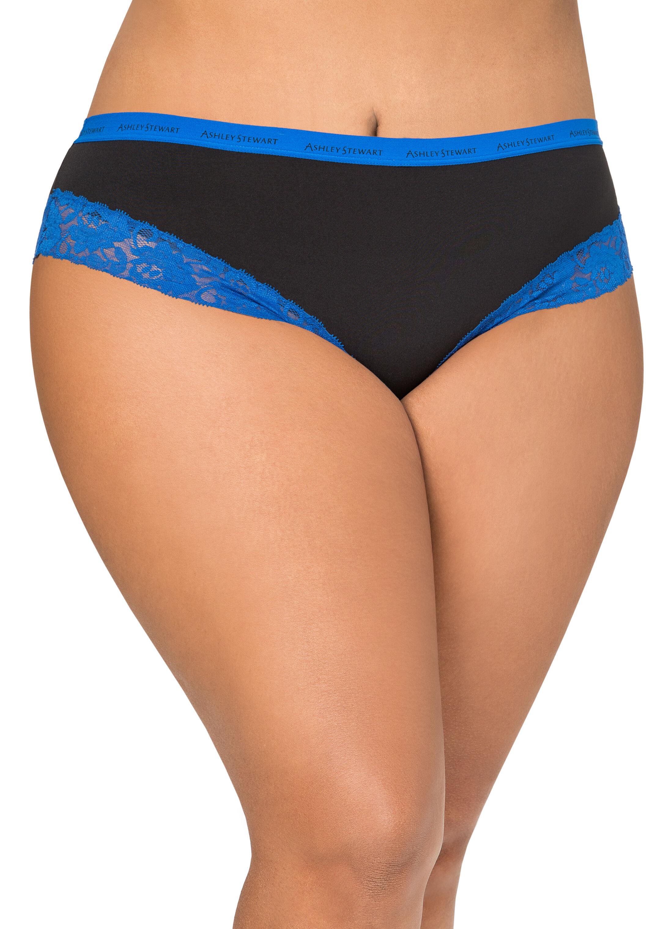 Lace Trim Microfiber Bikini Panty