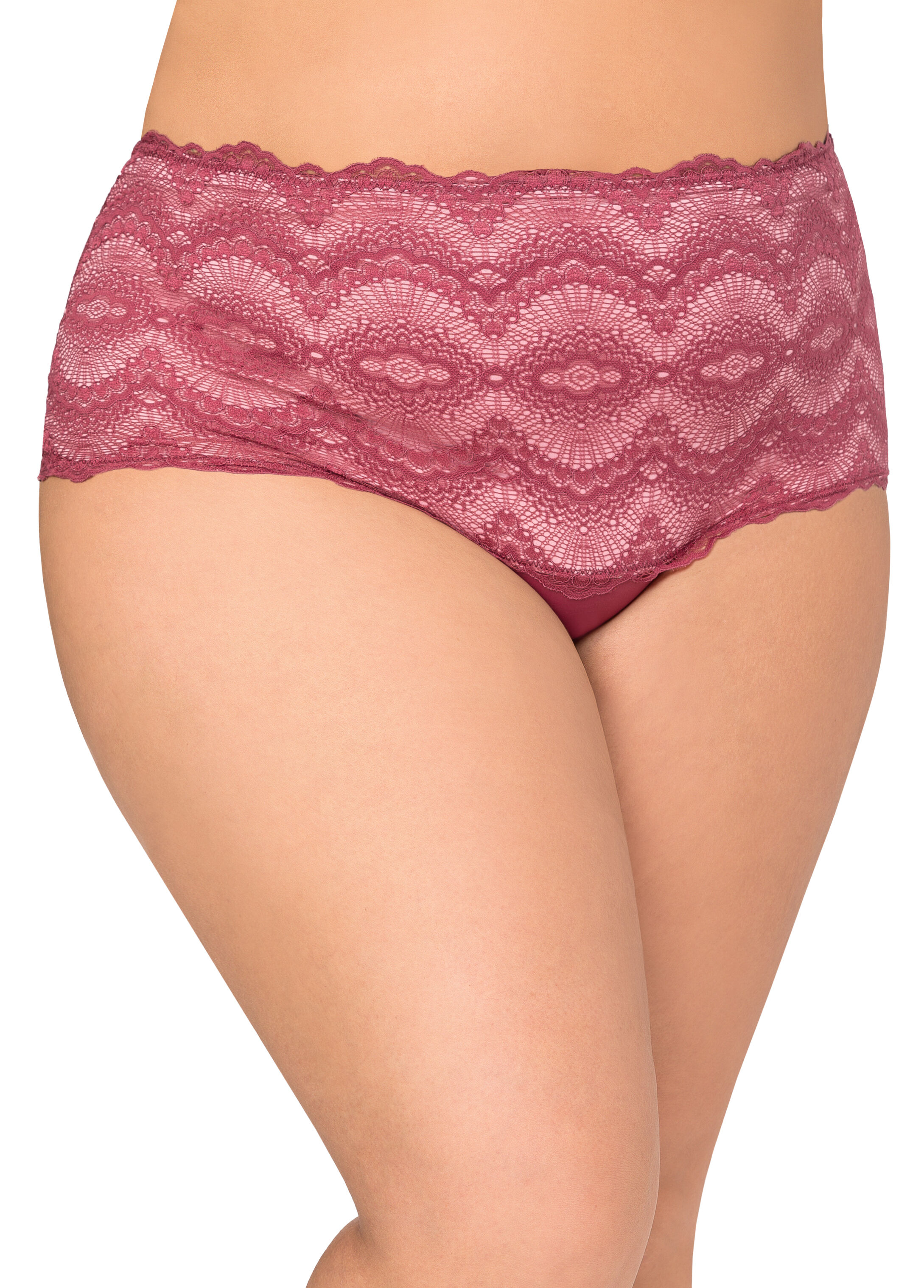 Scalloped Lace Hipster Panty