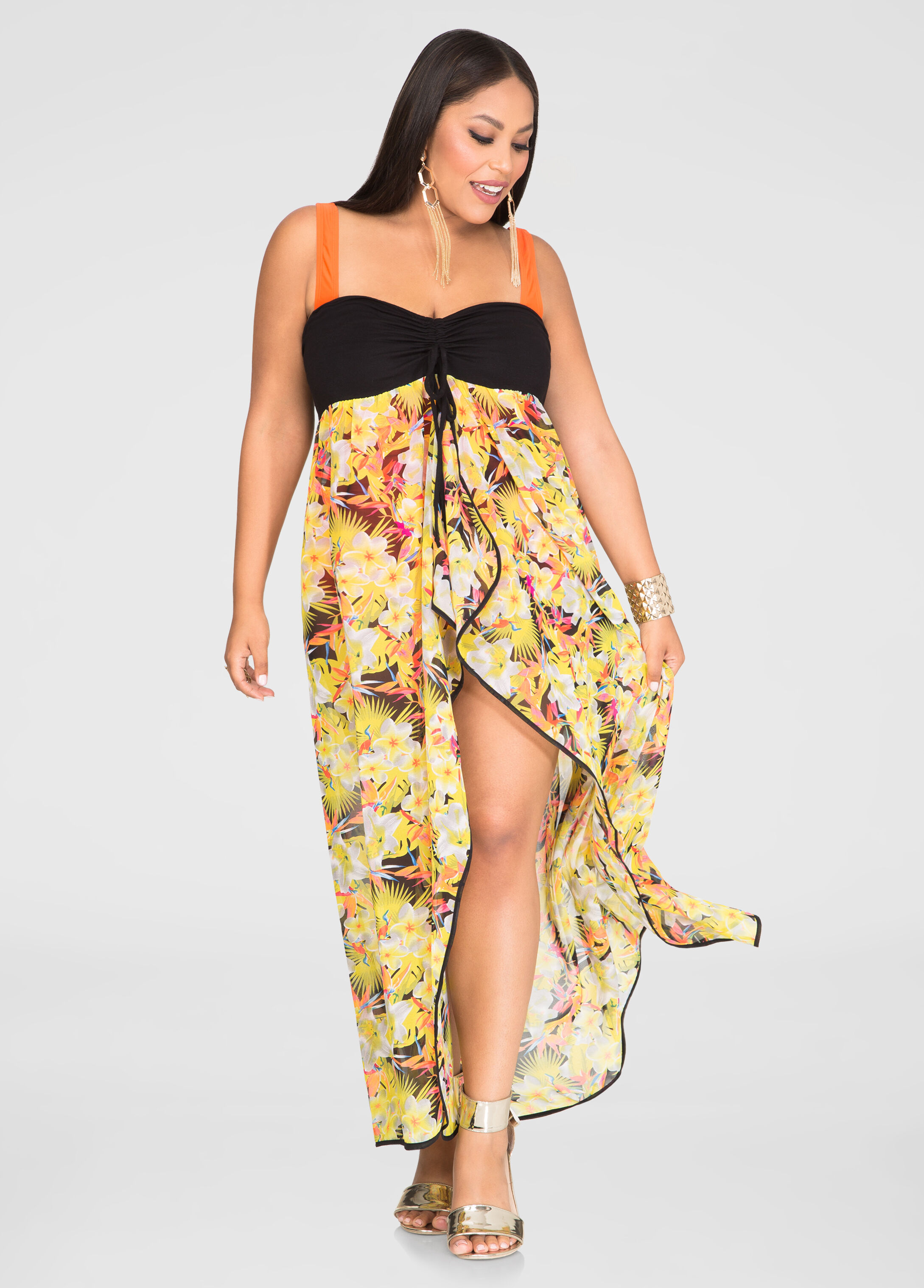 2-In-1 Tropical Swim Cover-Up
