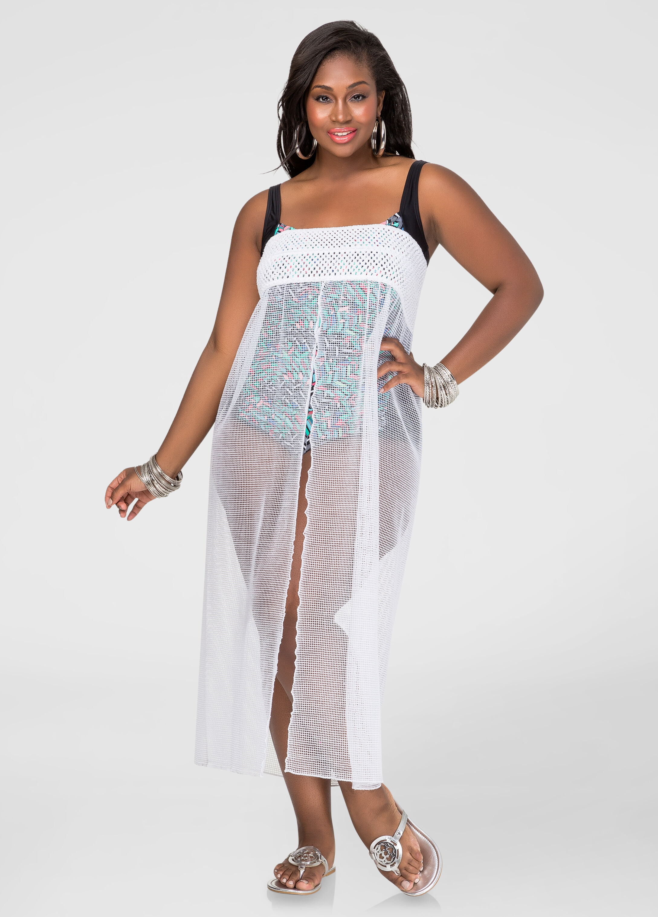 Crochet Flyaway Maxi Skirt Cover-Up