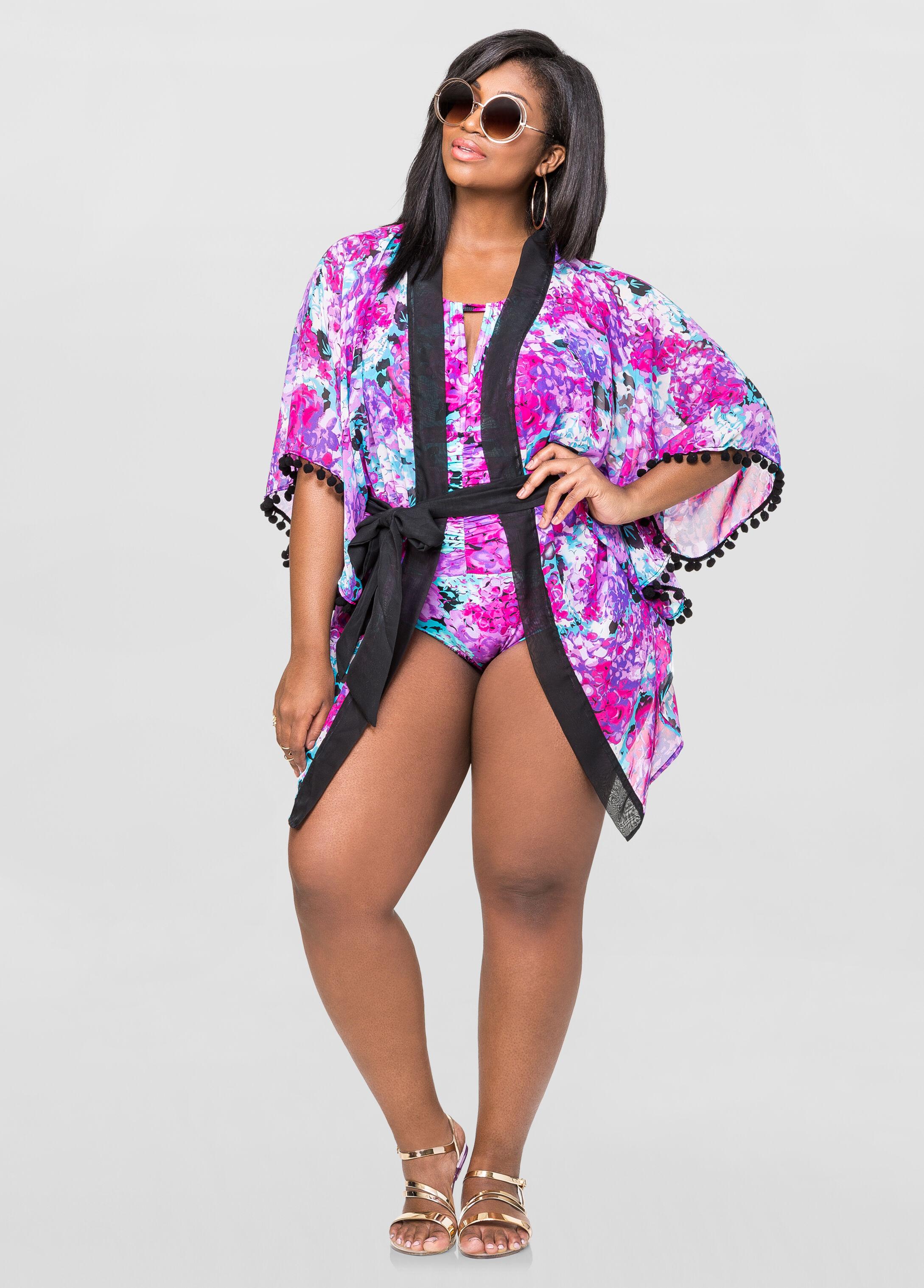 Hydrangea Kimono Cover-Up