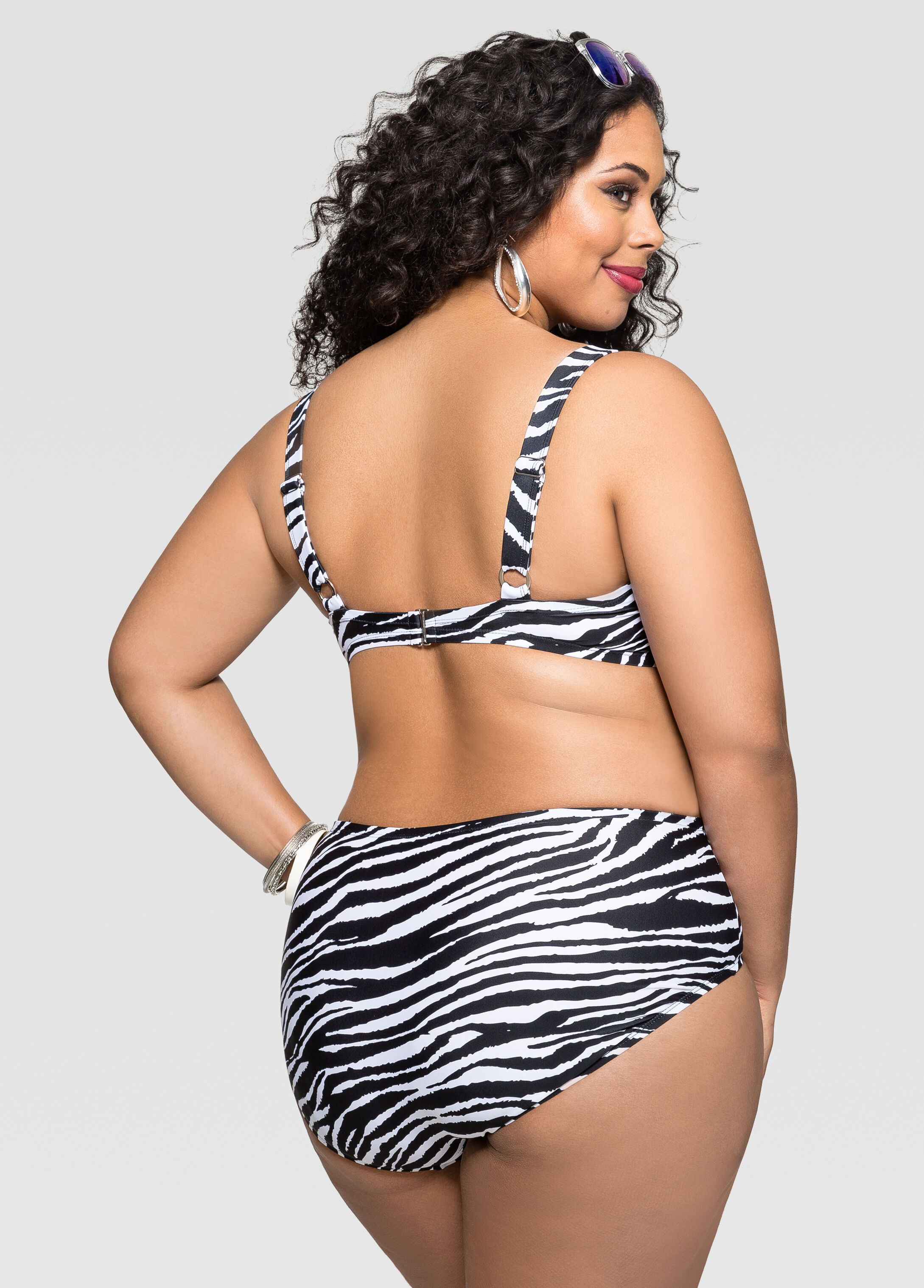 Zebra Print Bra Bikini Top