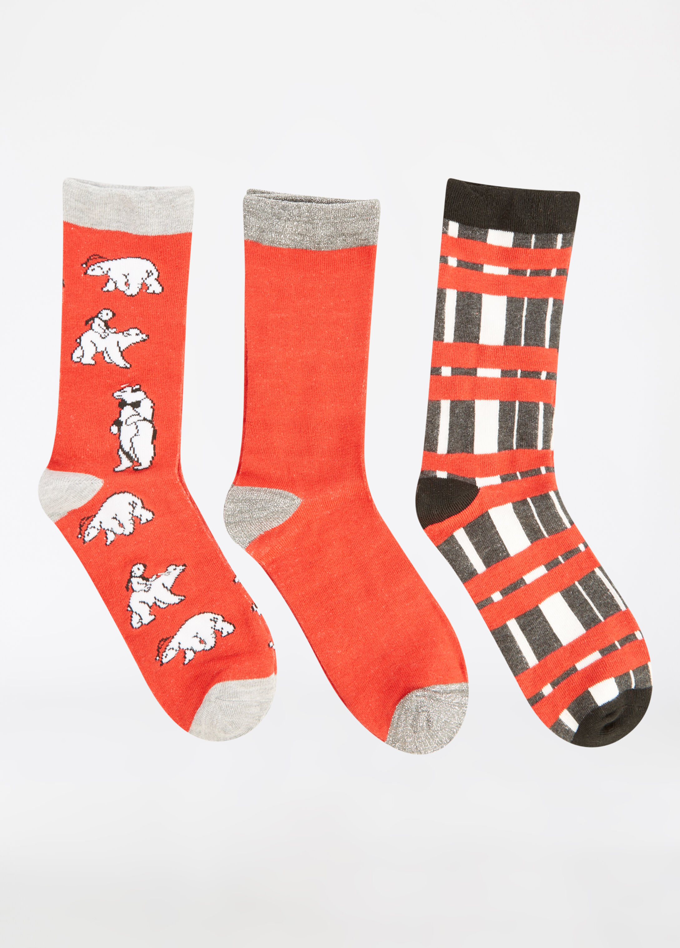 3-Pack Polar Bear Crew Socks