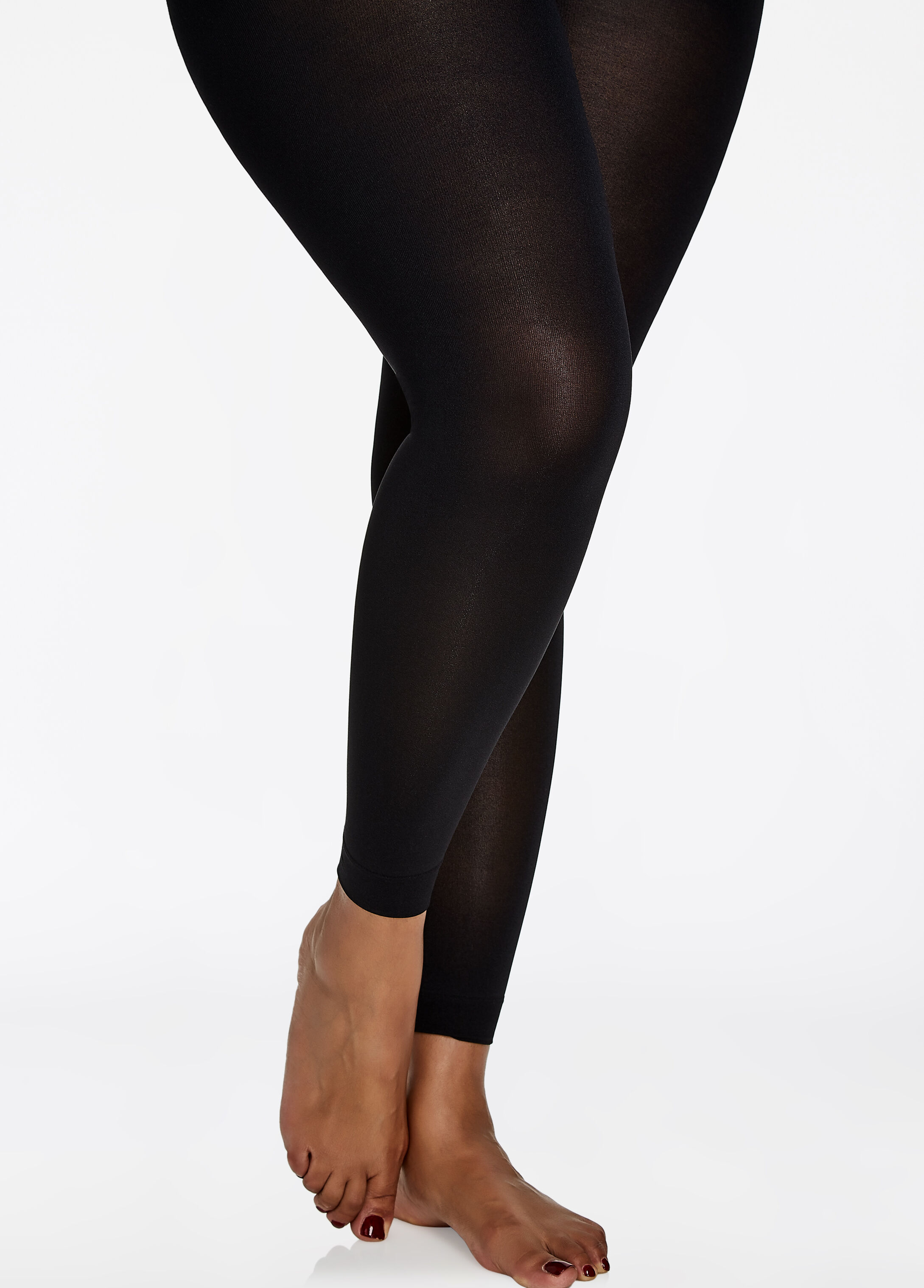Berkshire Max Coverage Ankle Length Tights Black - Intimates