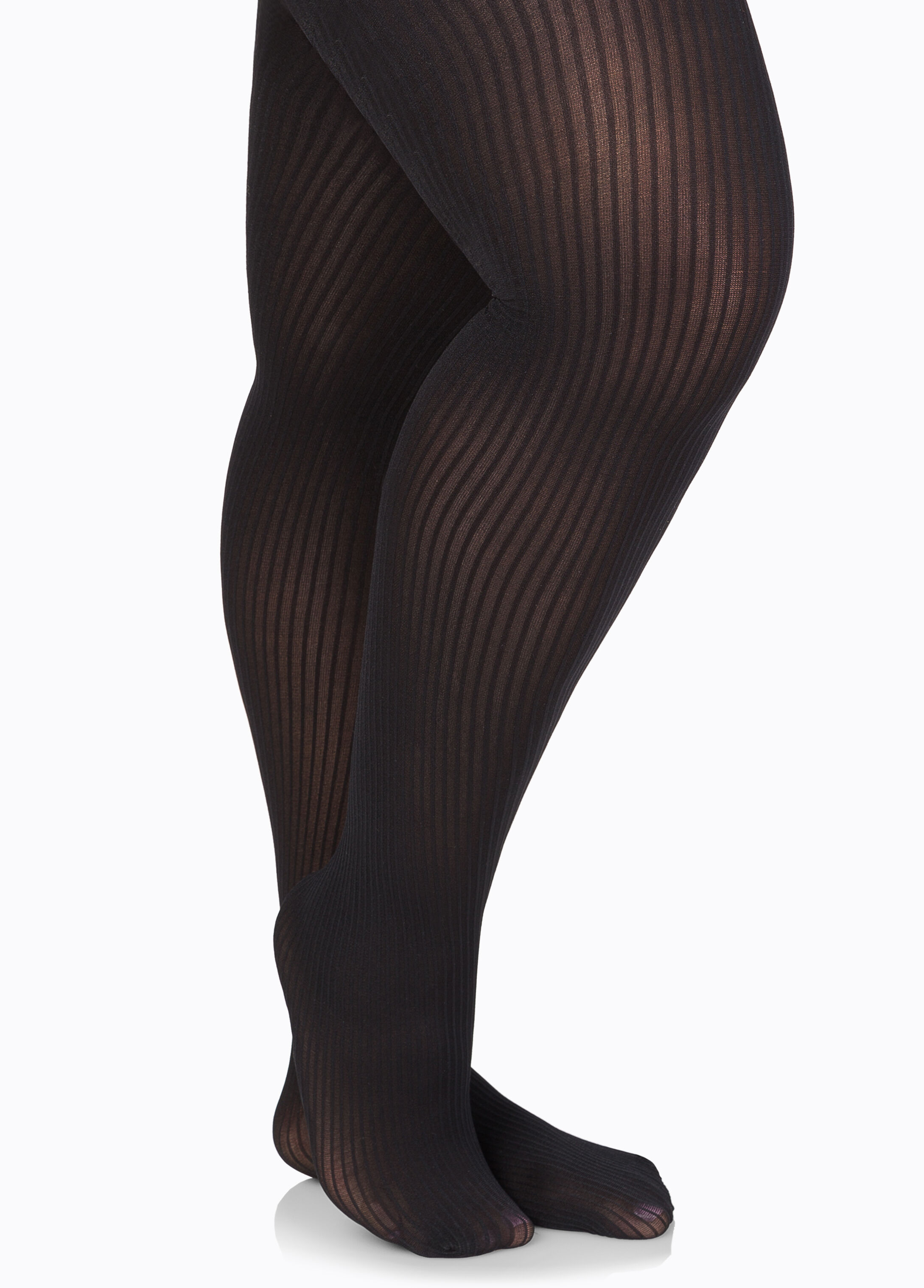 Ribbed Opaque Footed Tights