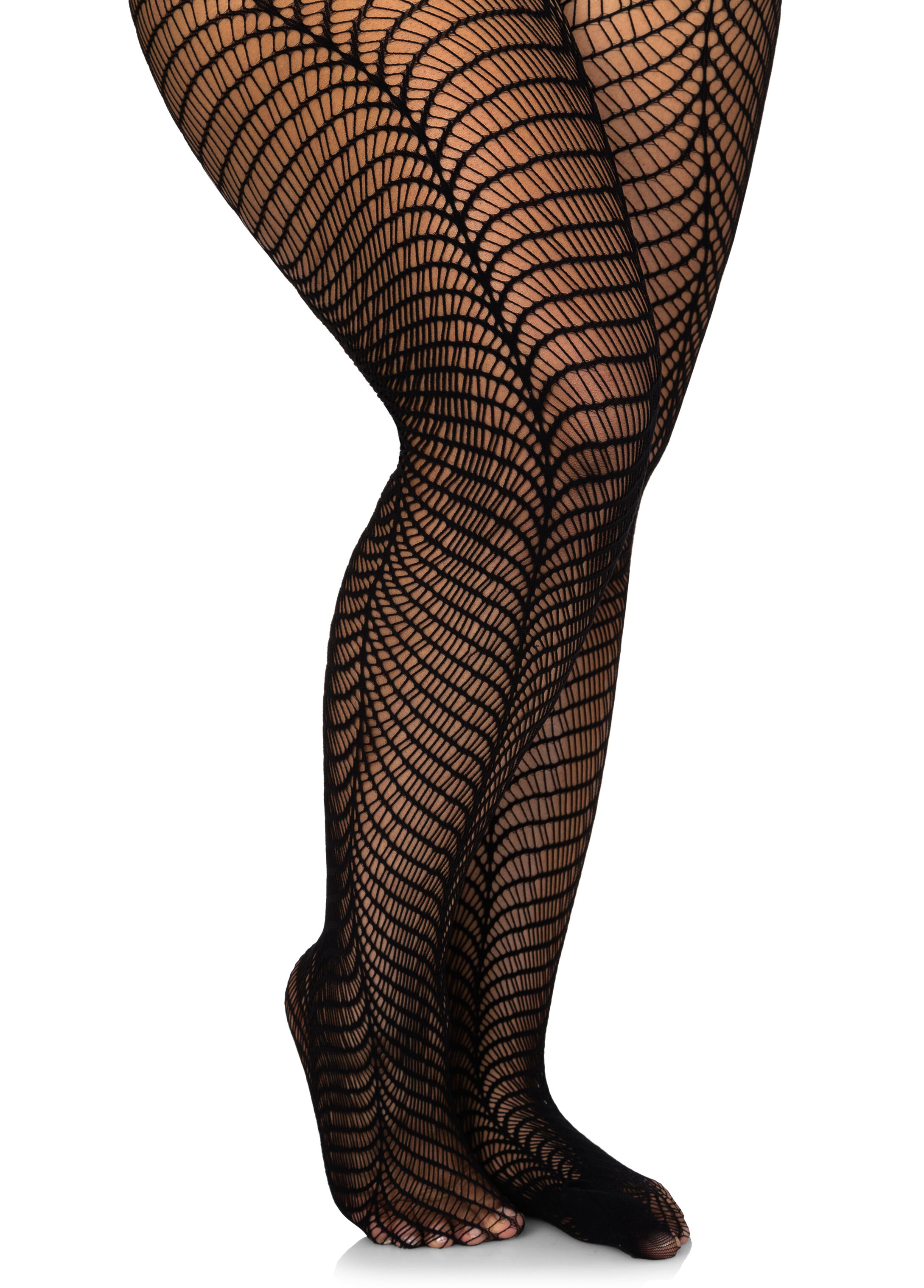 Wavy Net Footed Tights