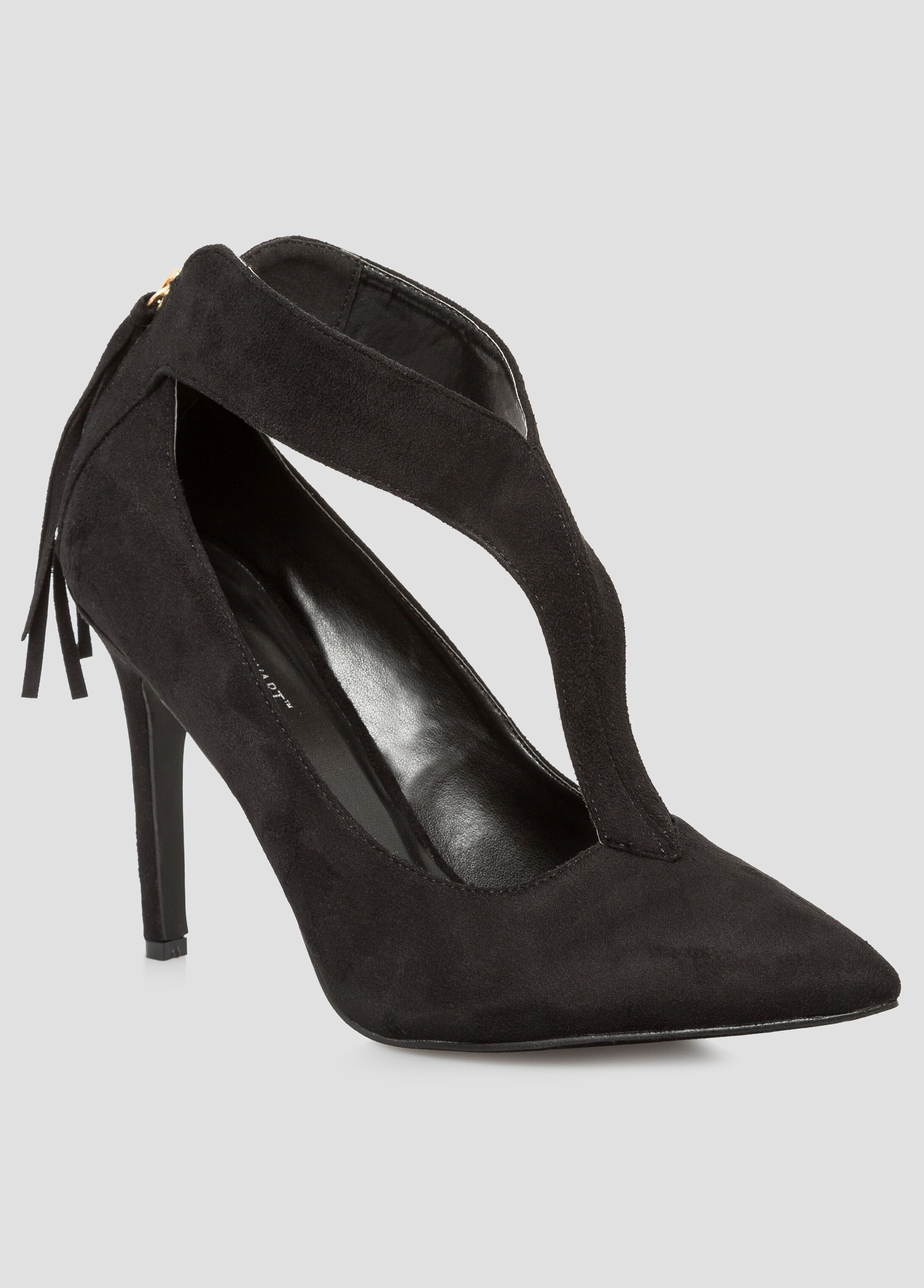 Cut-Out Tassel Back Pump - Wide Width