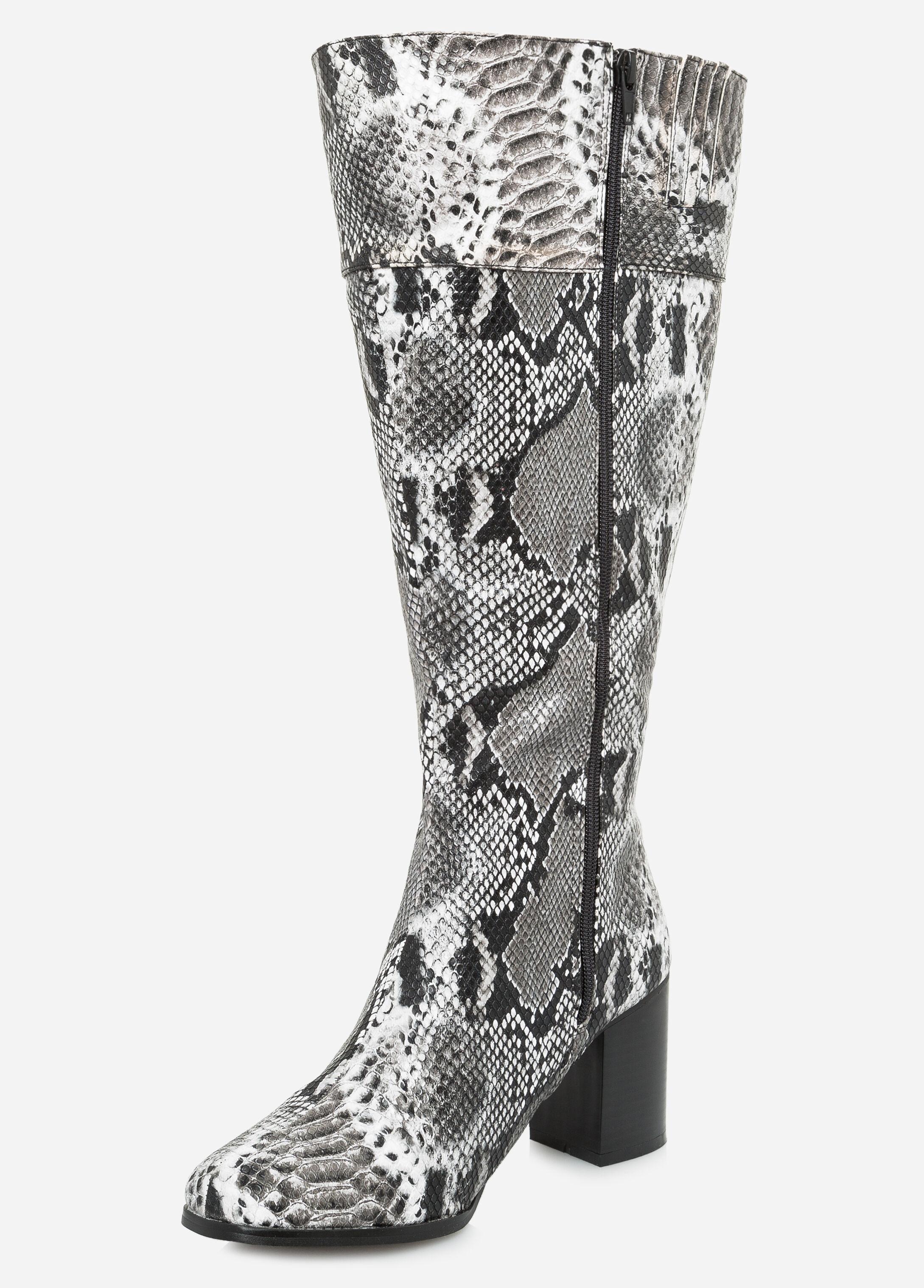Snake Tall Boot - Wide Calf, Wide Width