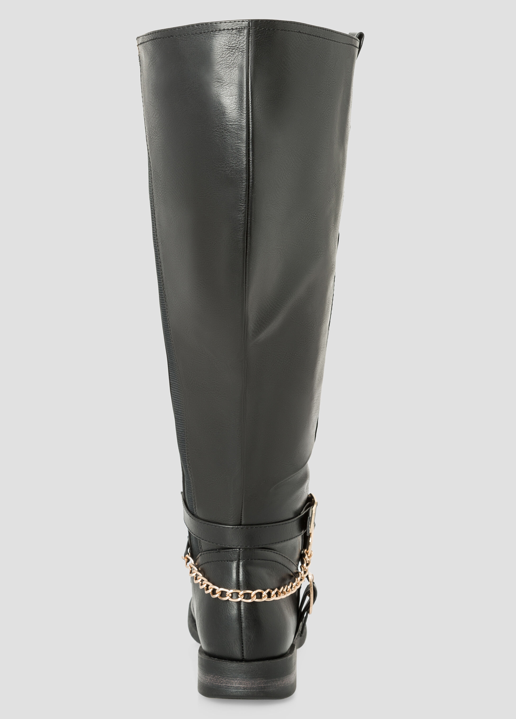 Ankle Buckle Riding Boot - Extra Wide Calf