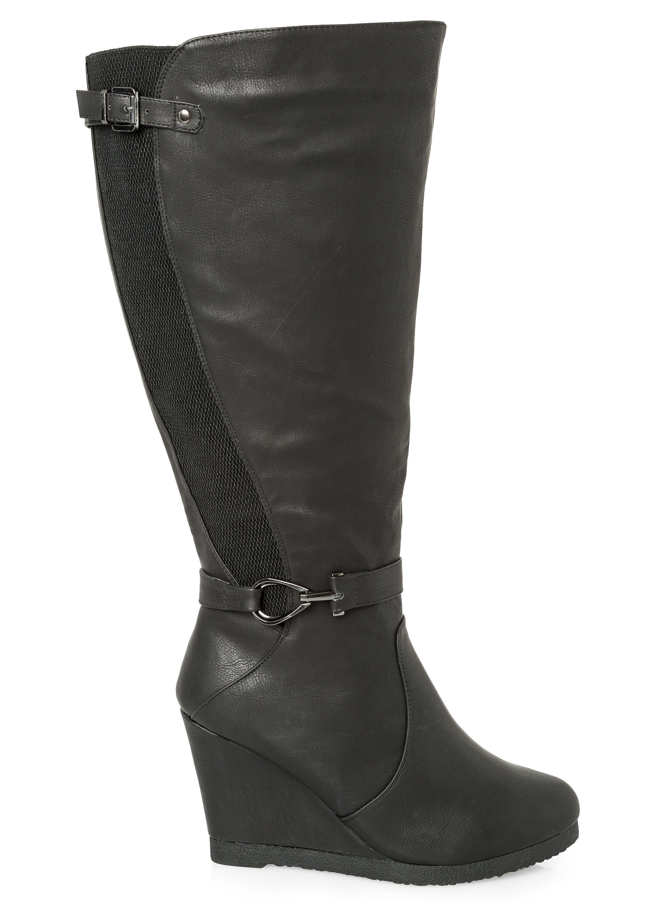 Tall Wedge Boot - Wide Calf, Wide Width