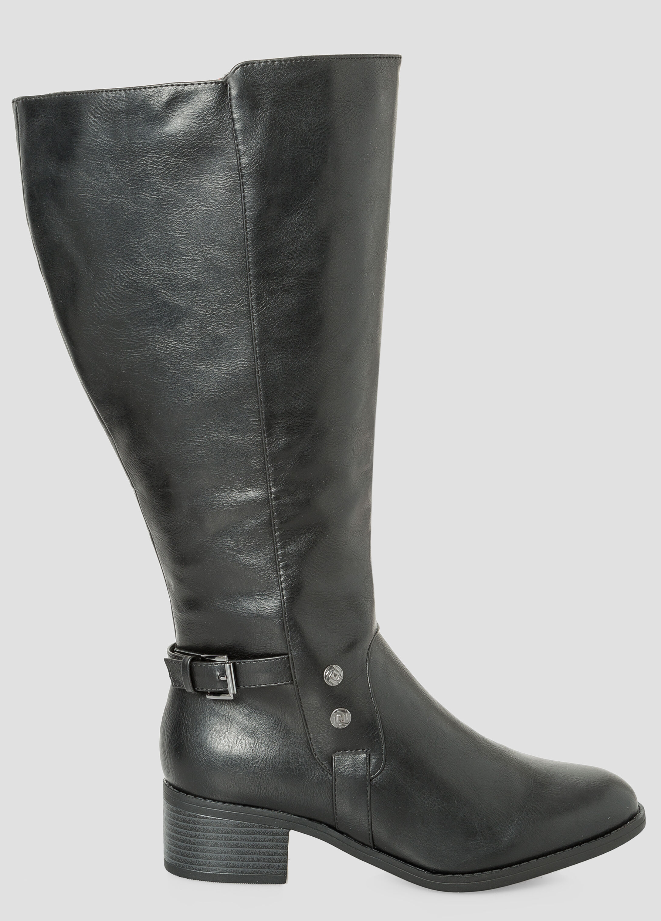 Stud Riding Boot - Wide Calf, Wide Width