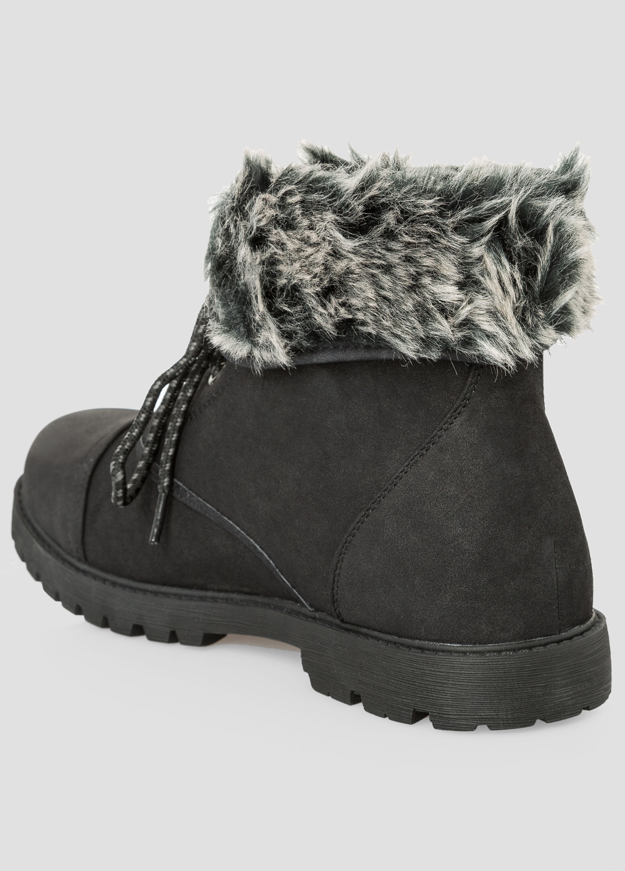 Fur Lined Boot - Wide Width