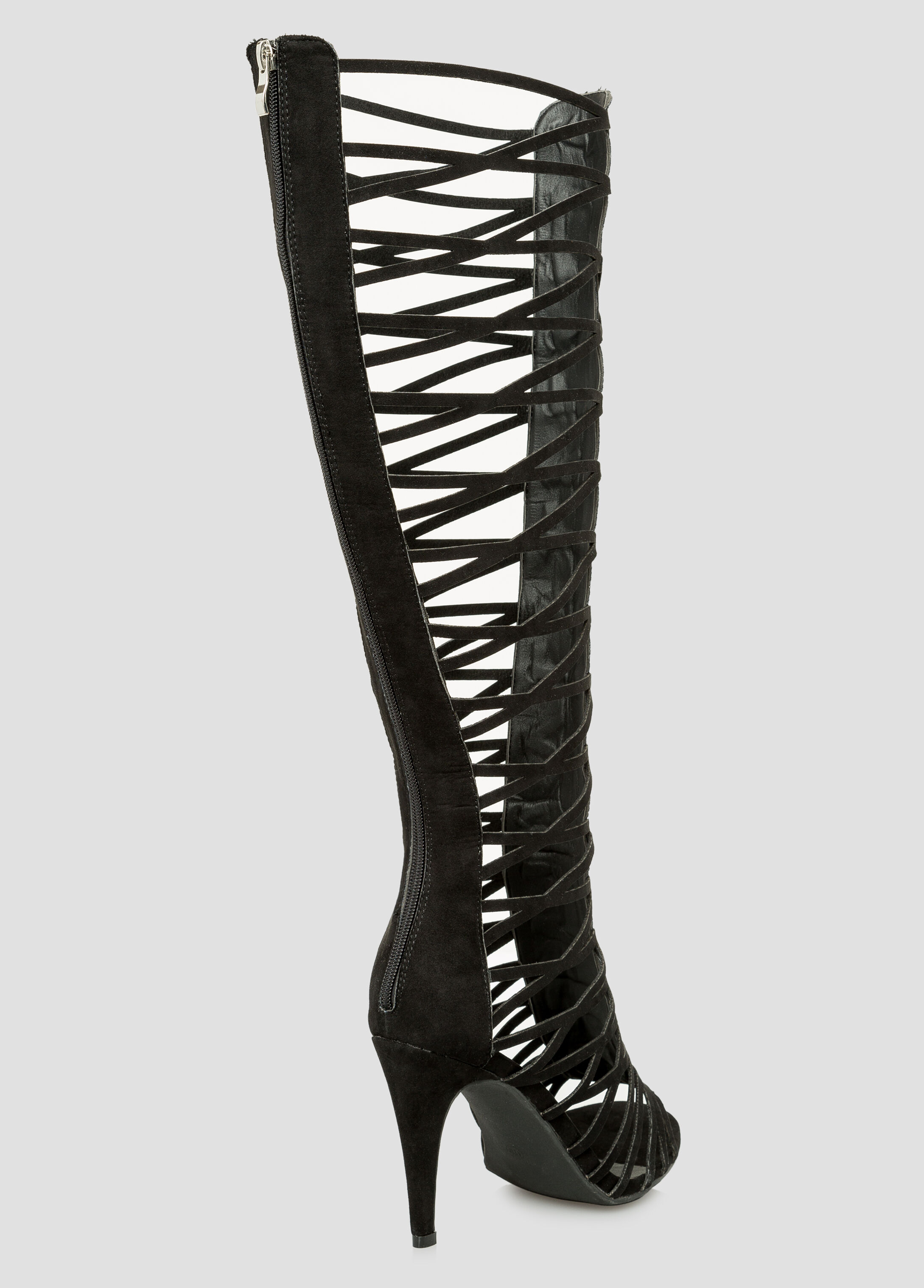 Suede Tall Gladiator Sandal - Wide Width Wide Calf