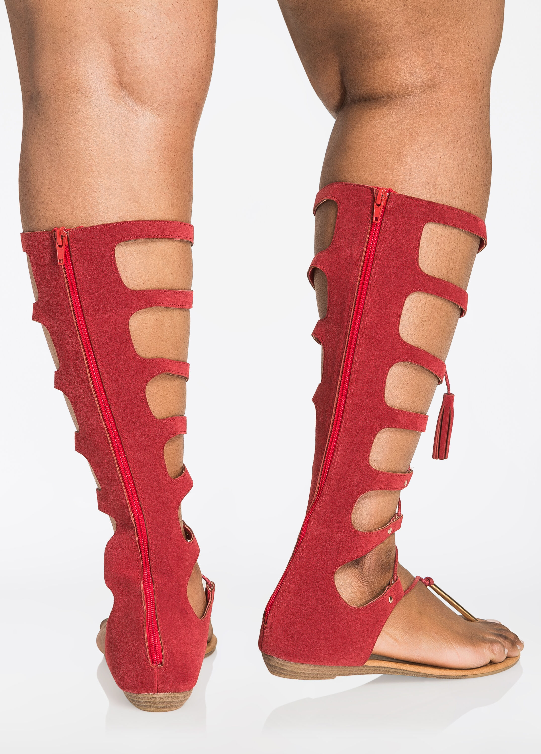 Lace-Up Gladiator Sandals - Wide Width