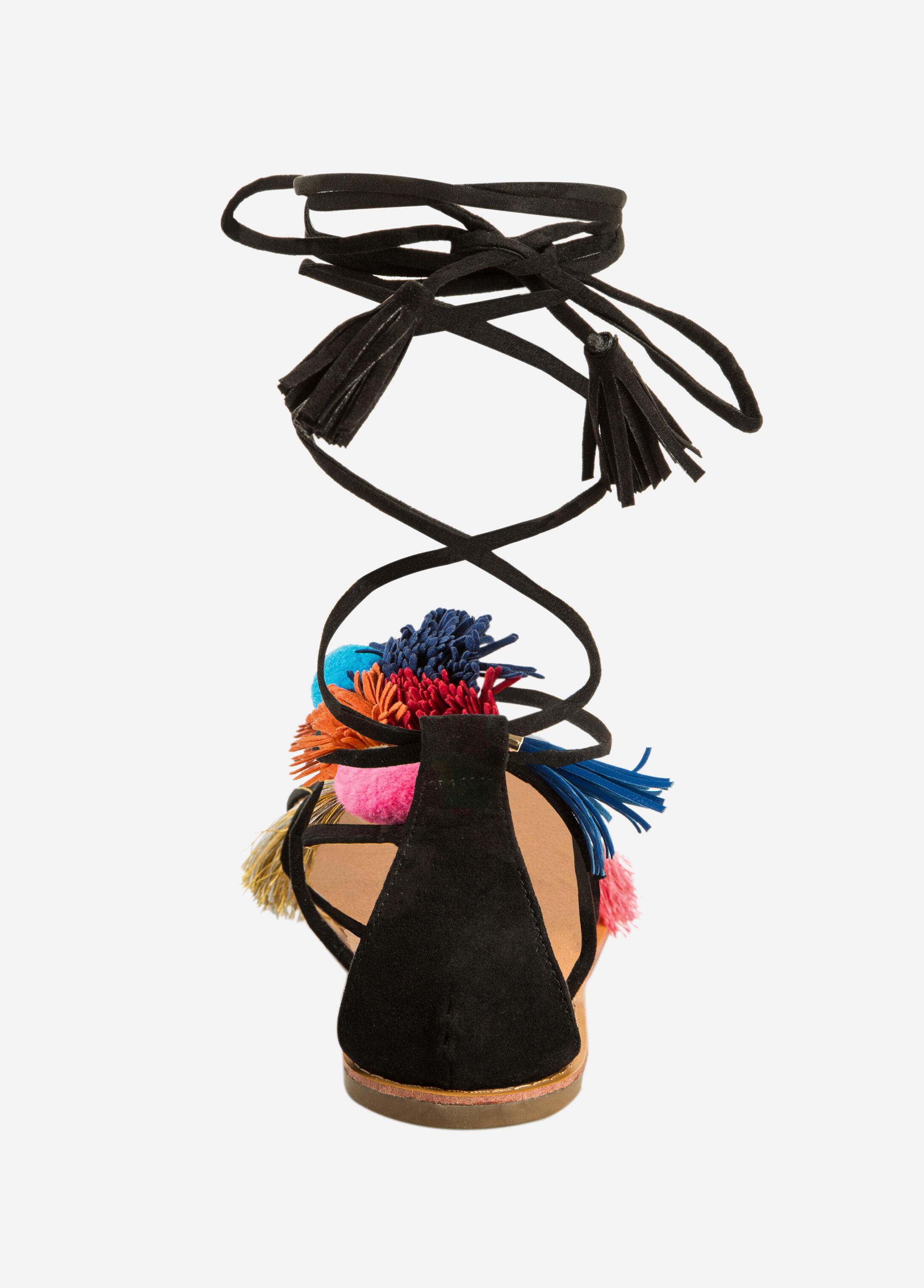 Pom Tassel Sandal - Wide Width