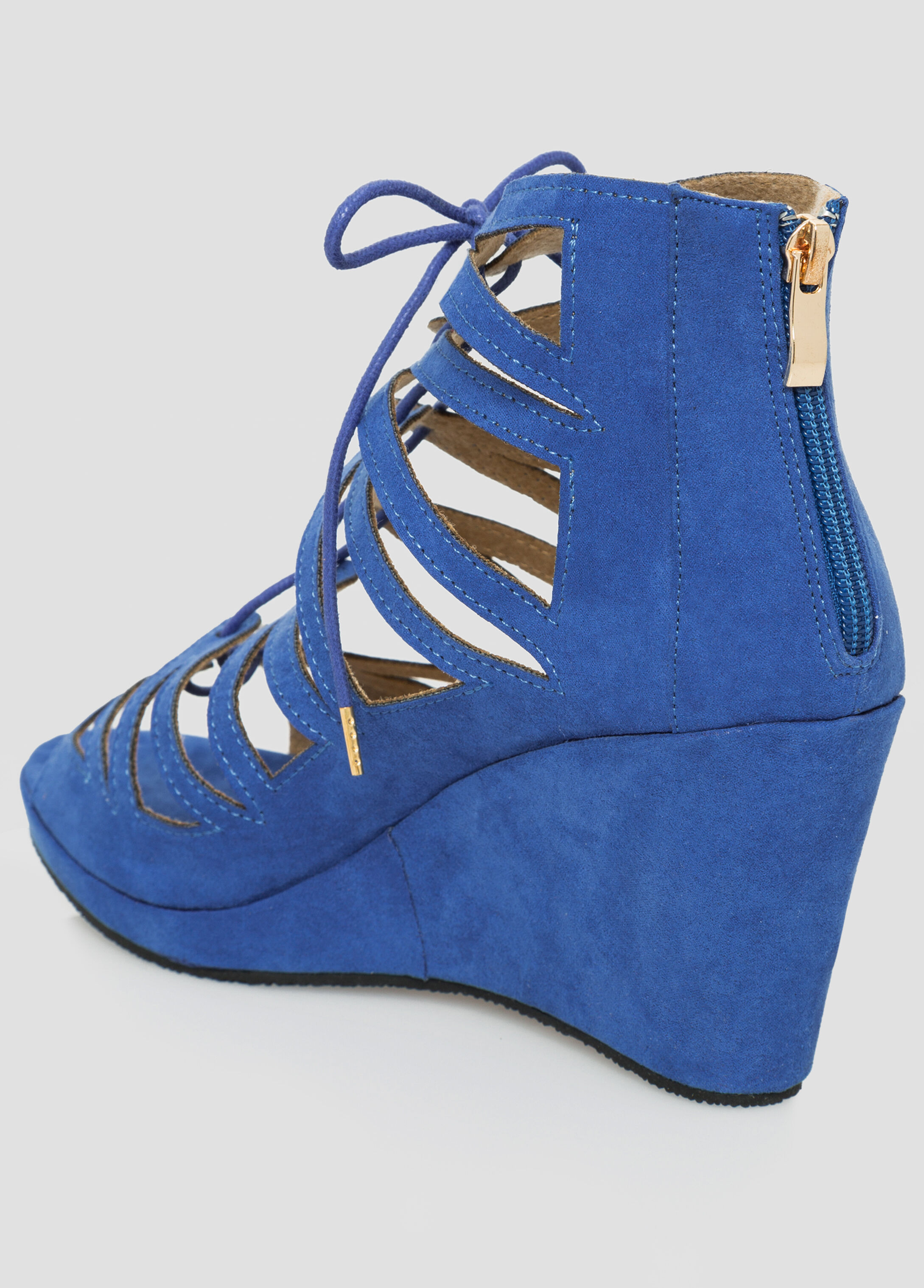 Lace-Up Wedge Sandal - Wide Width