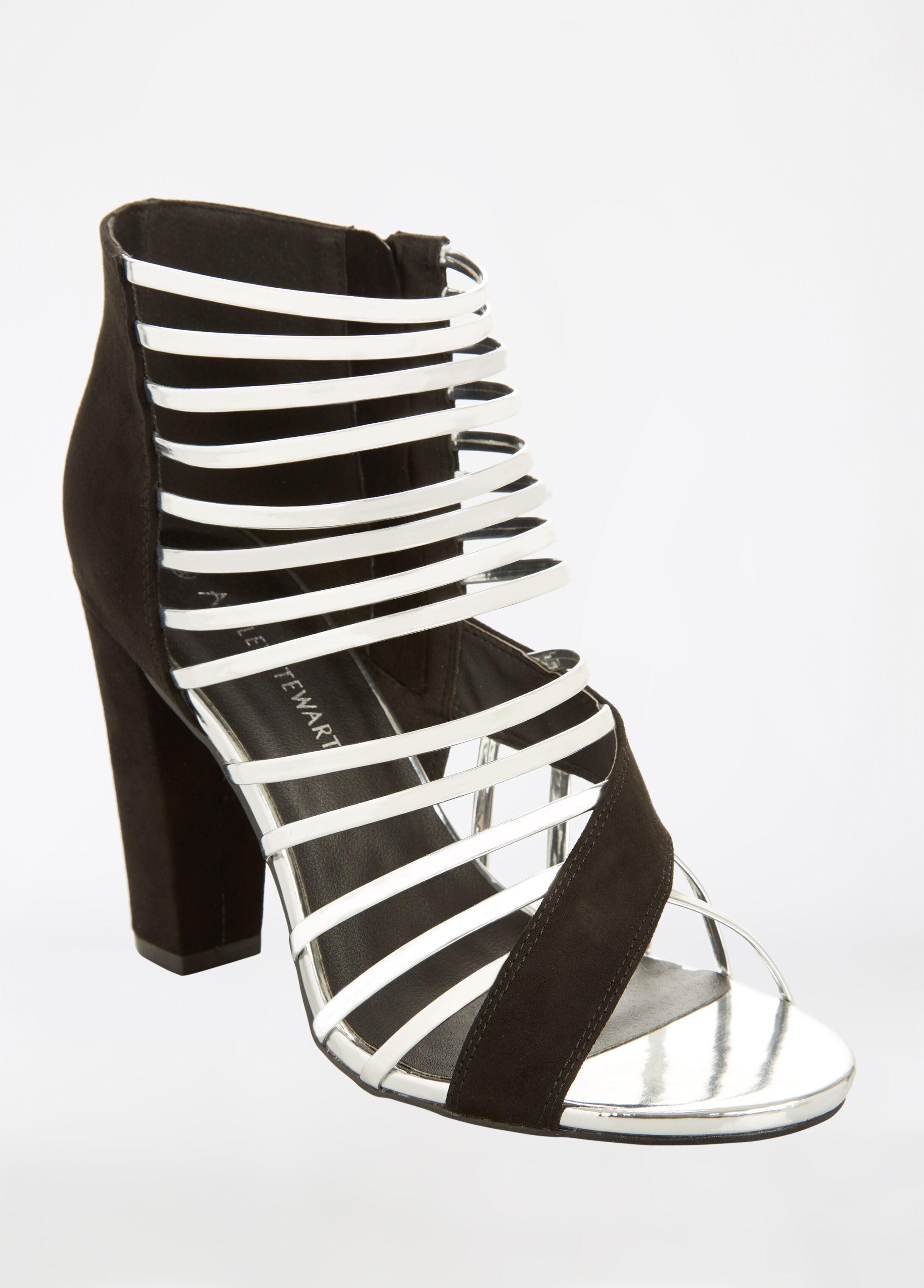 Open Toe Strappy Heeled Sandal - Wide Width
