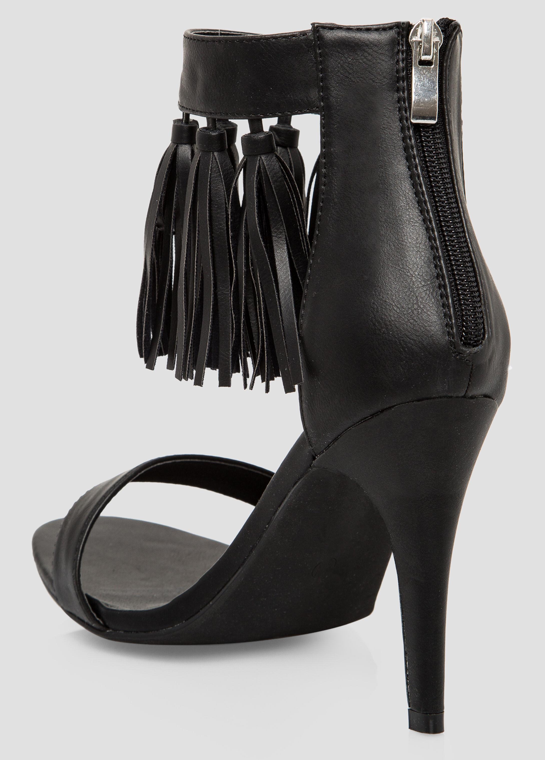 Fringe Open Toe Sandal - Wide Width