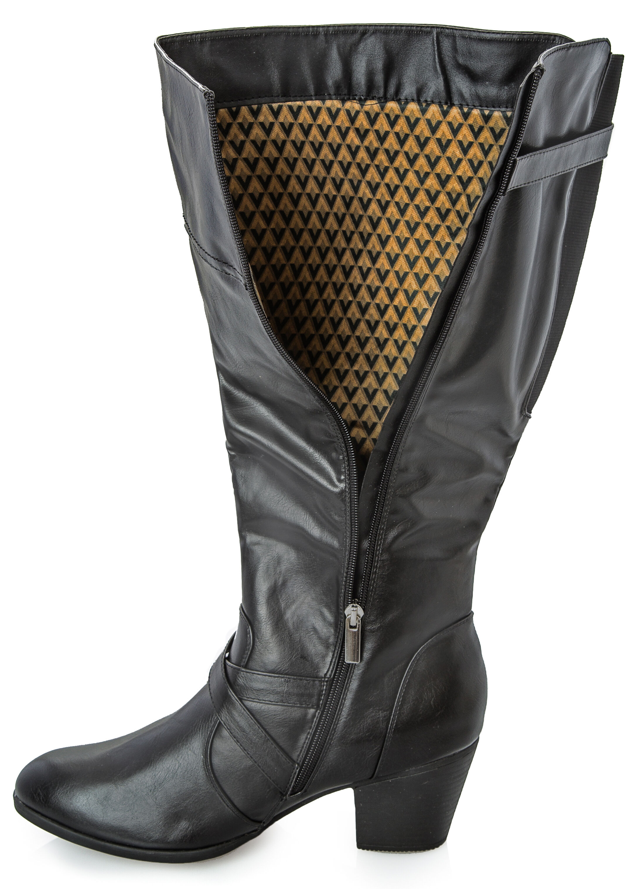 Short Chunky Heel Tall Boot - Wide Width Wide Calf