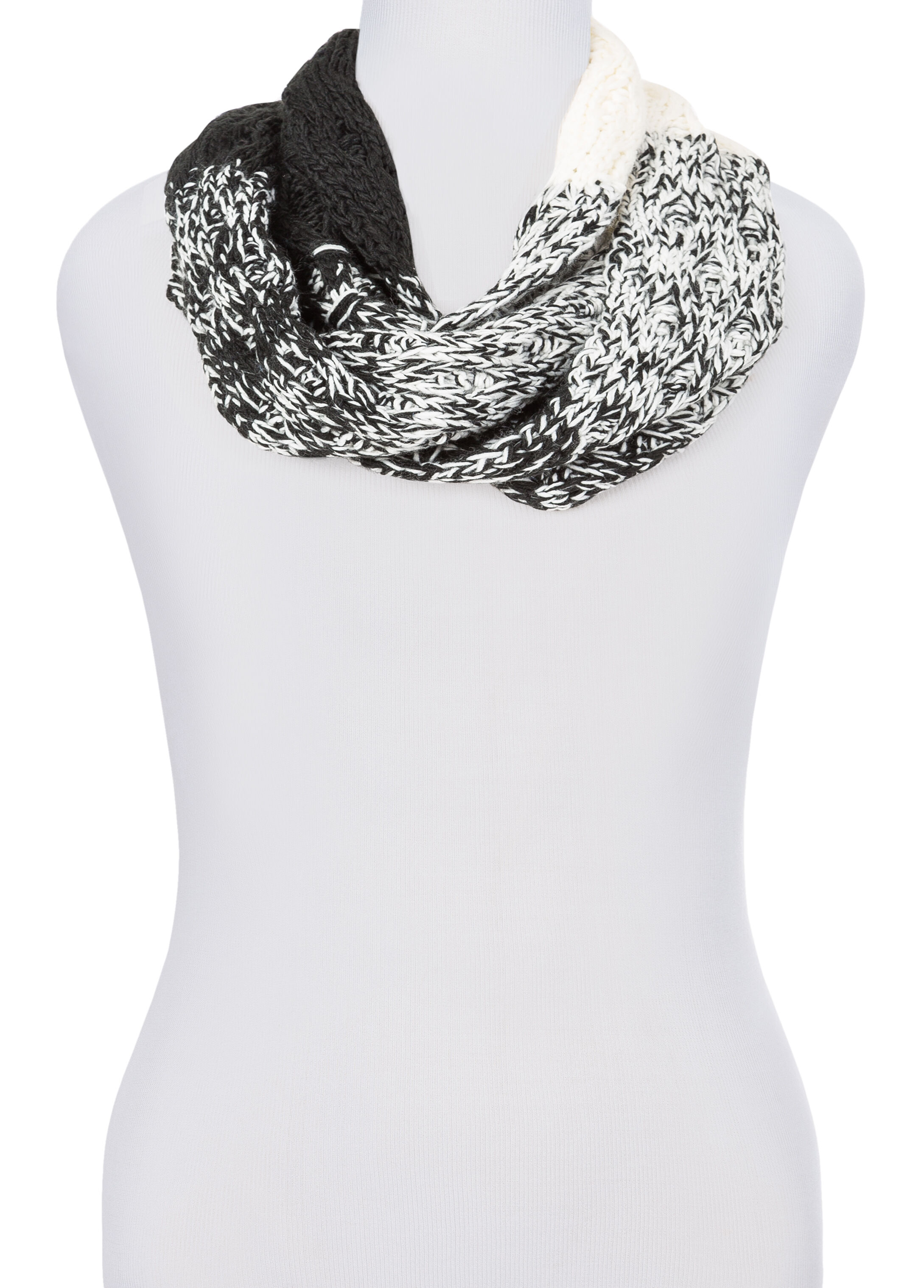 Marled Colorblock Infinity Scarf