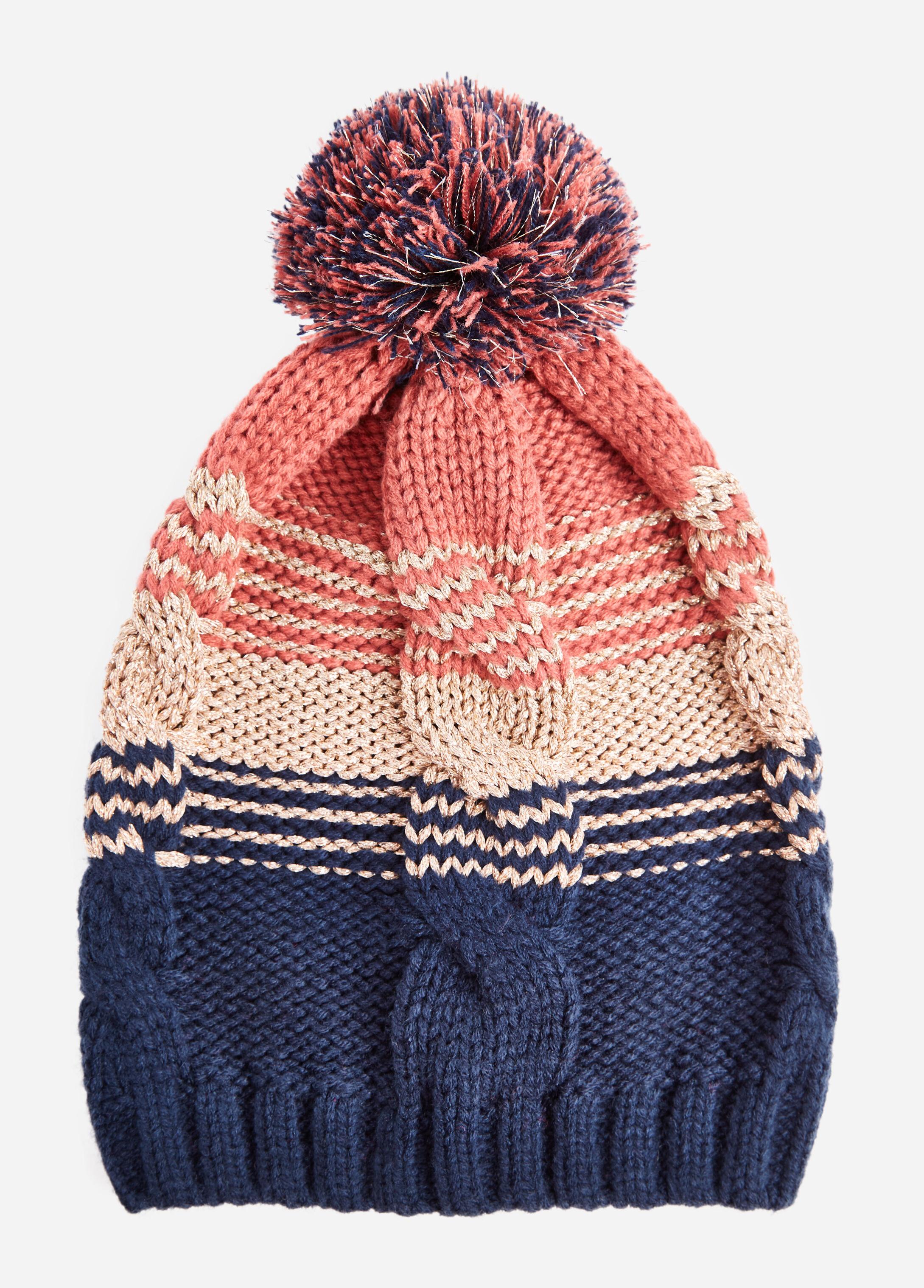 Lurex Blend Color Block Hat