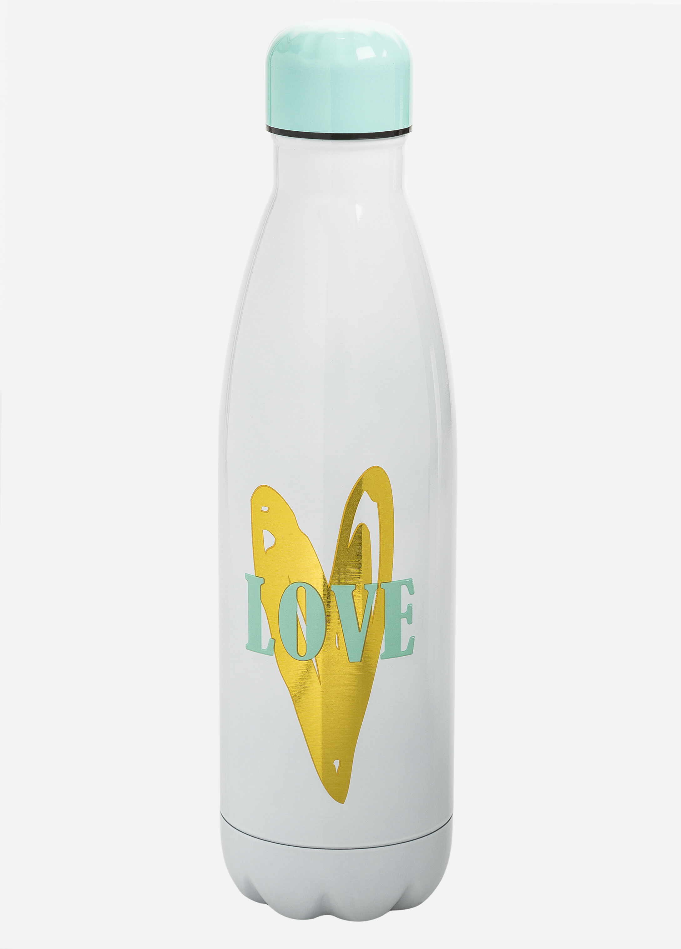 Inspirational Insulated Metal Water Bottle Silver - Clearance