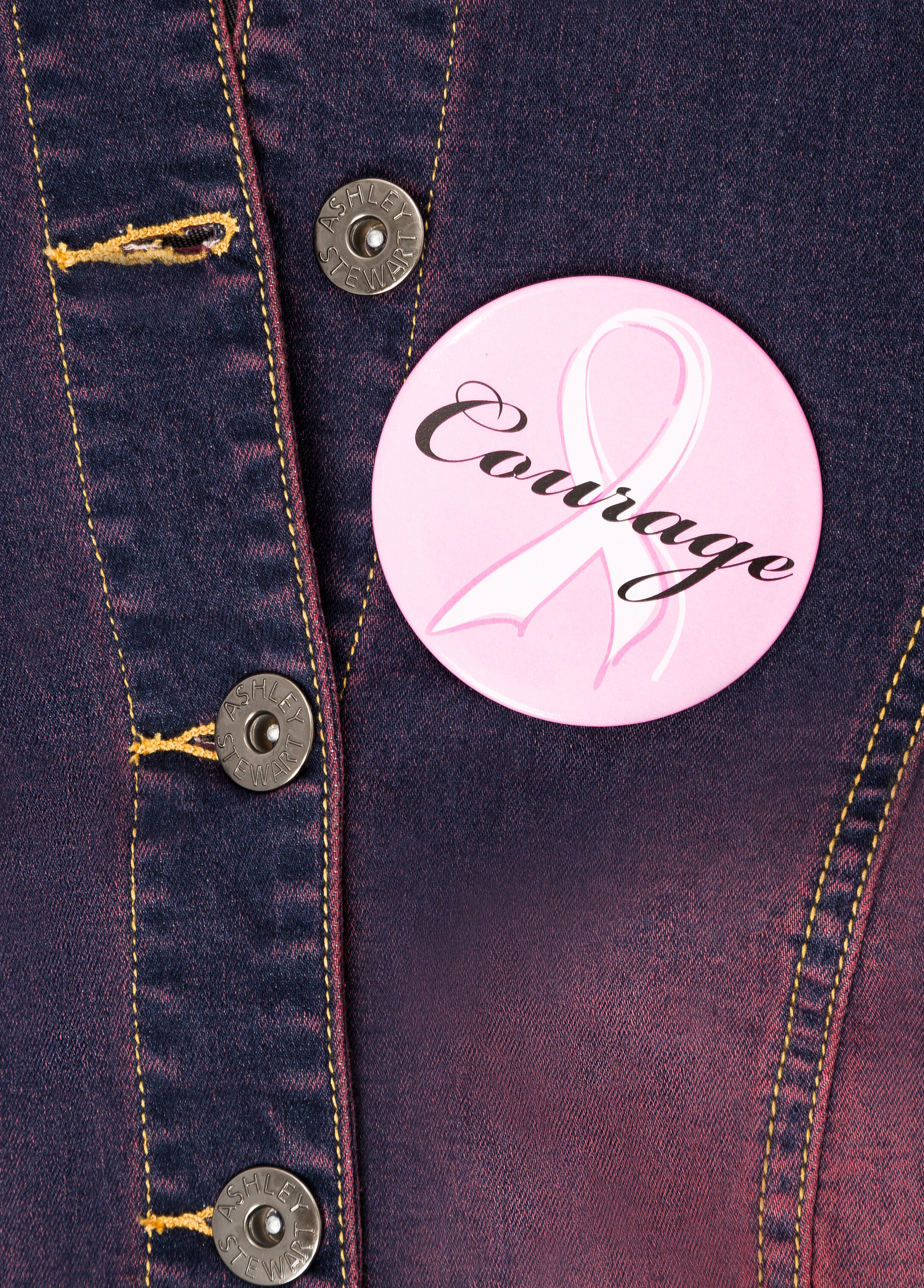 #ASGives Breast Cancer Awareness Courage Pin