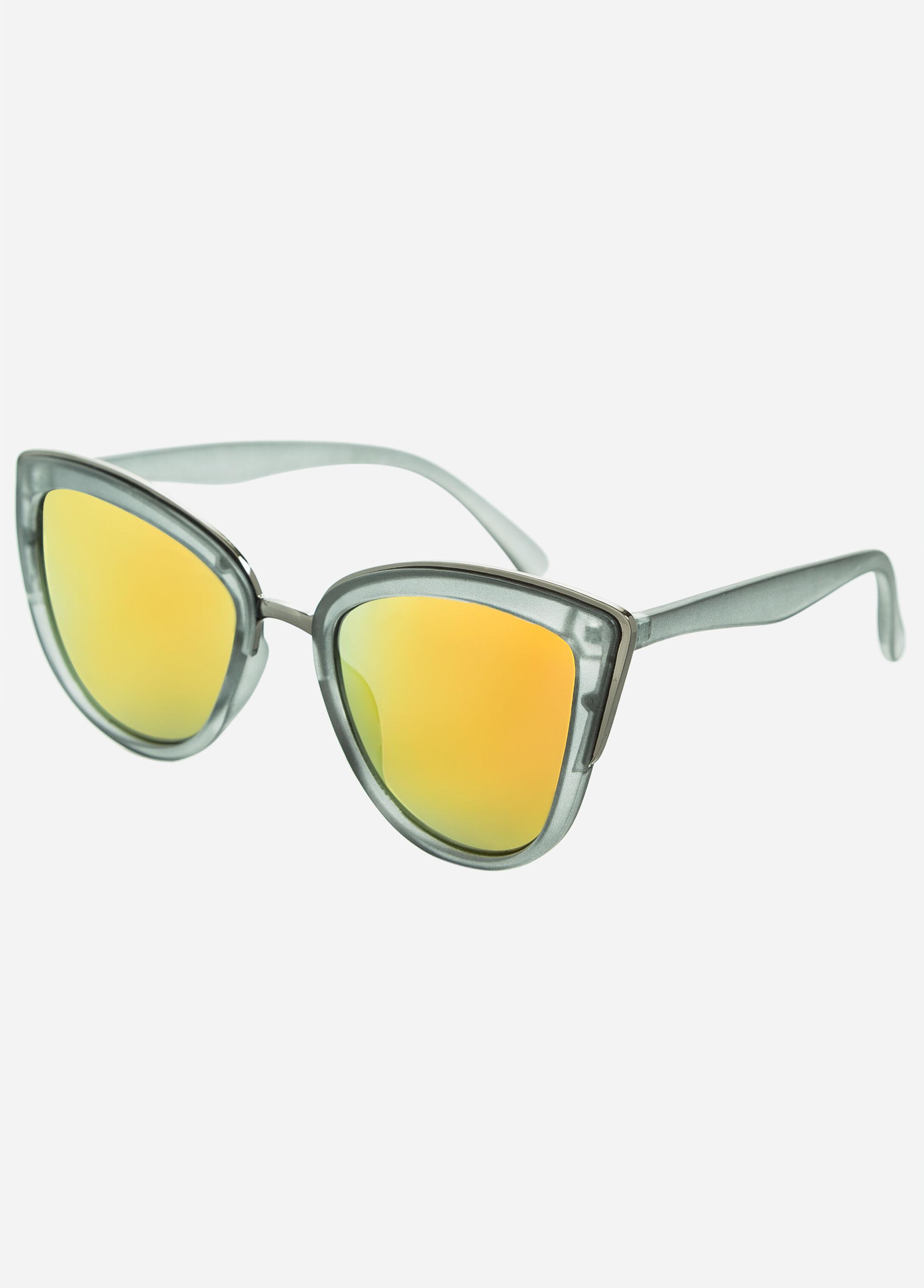 Orange Lens Cat Eye Sunglasses