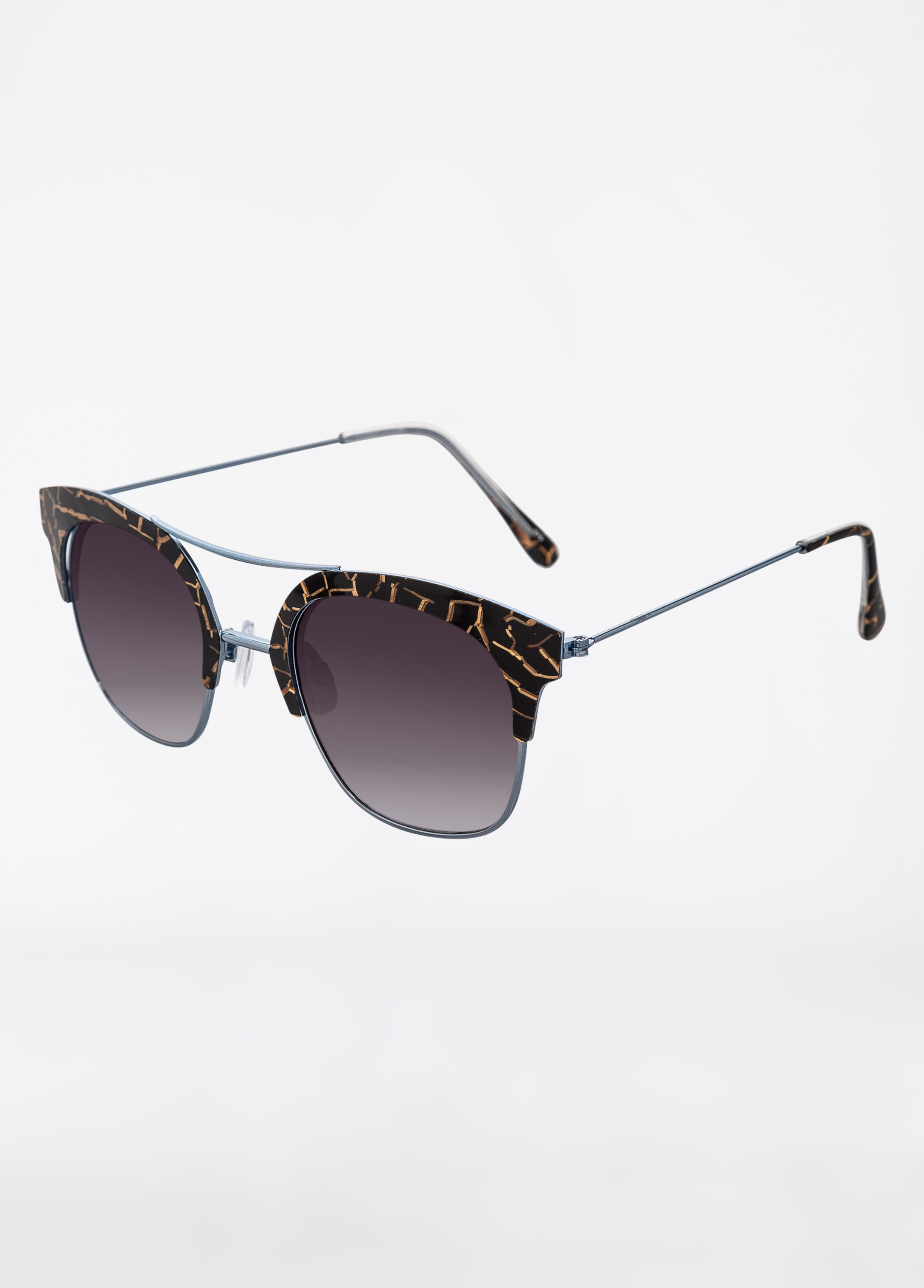 Giraffe Print Semi-Rimless Sunglasses