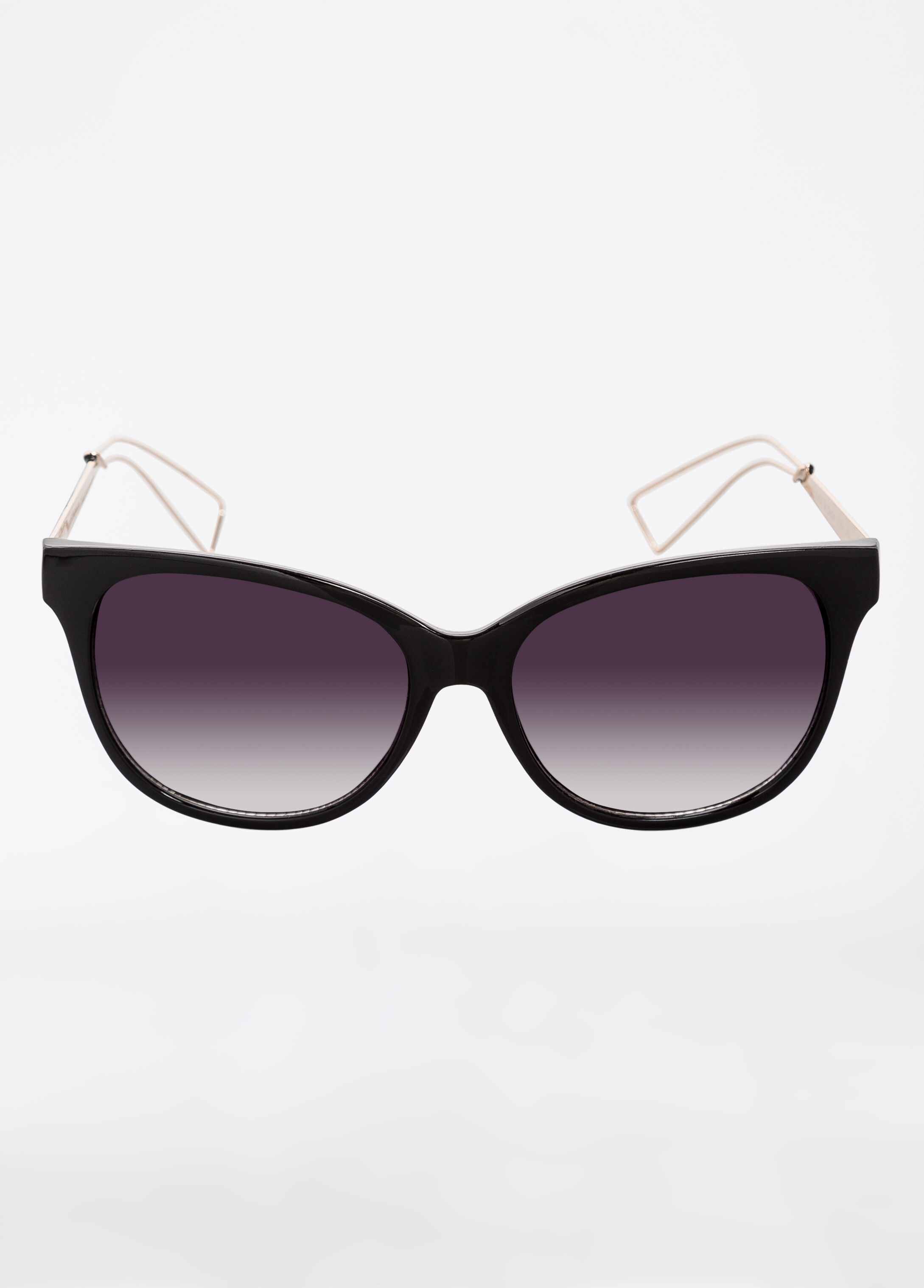 Square Frame Sunglasses with Metal Cutouts