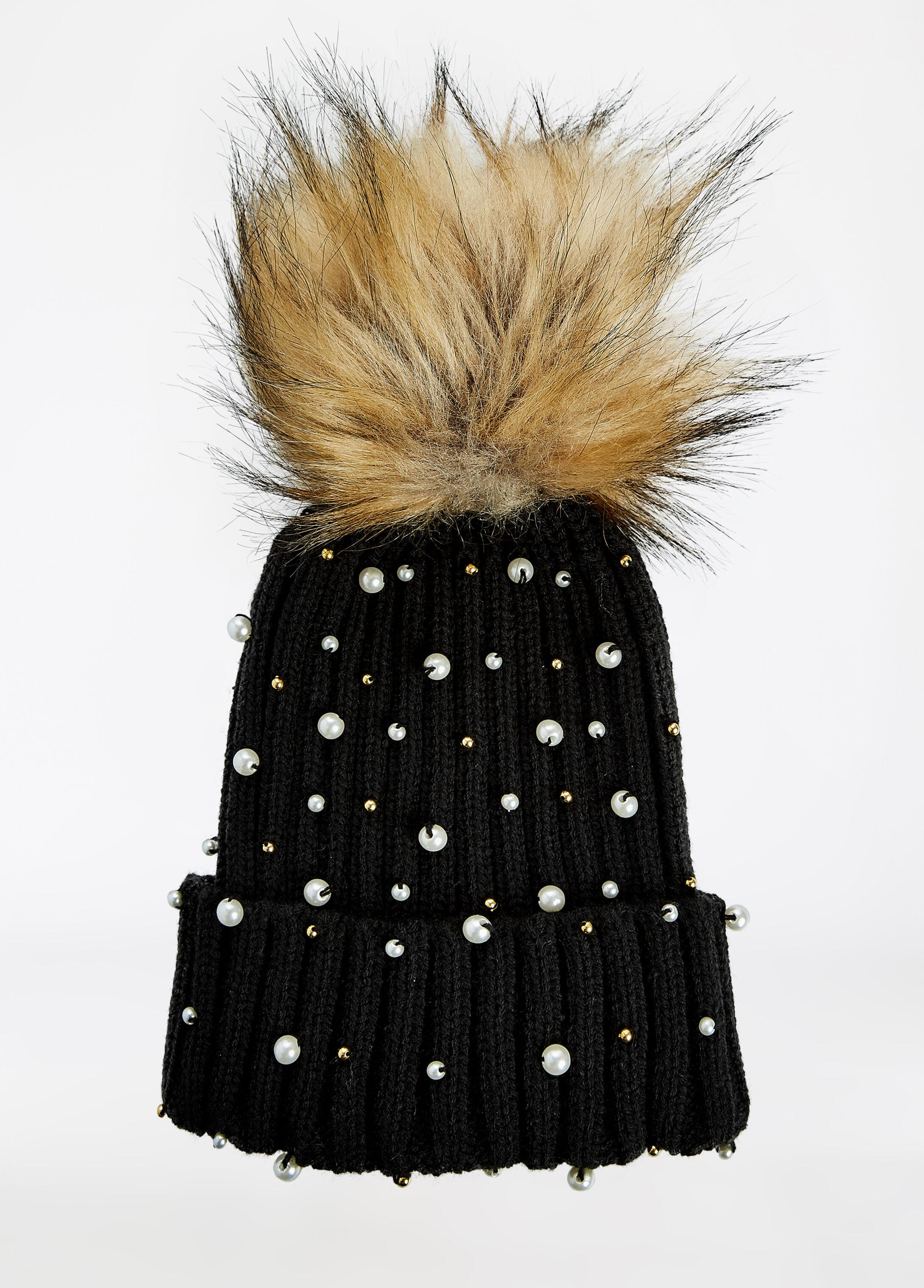 Pearl Detail Winter Hat