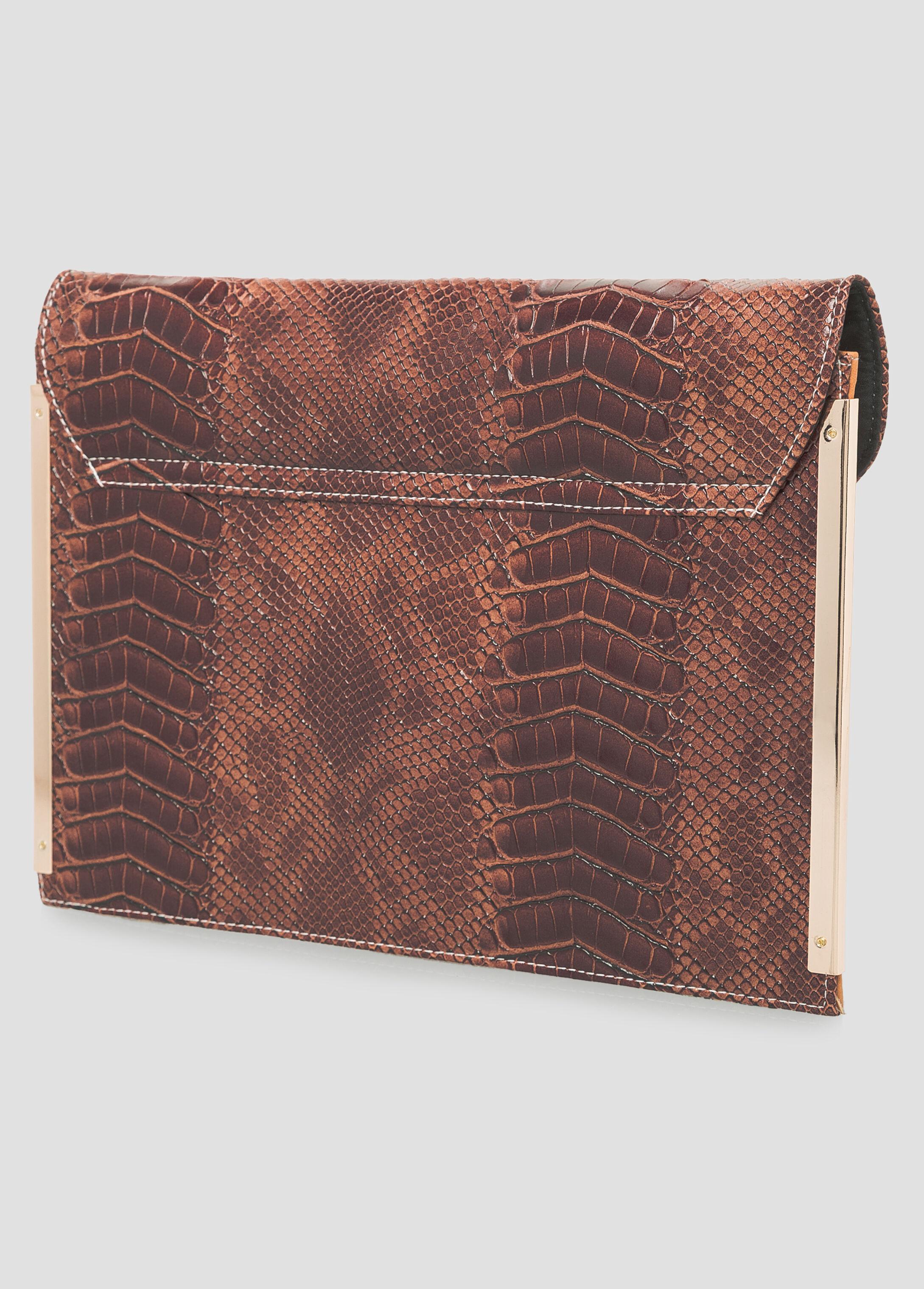 Colorblock Snake Shoulder Bag