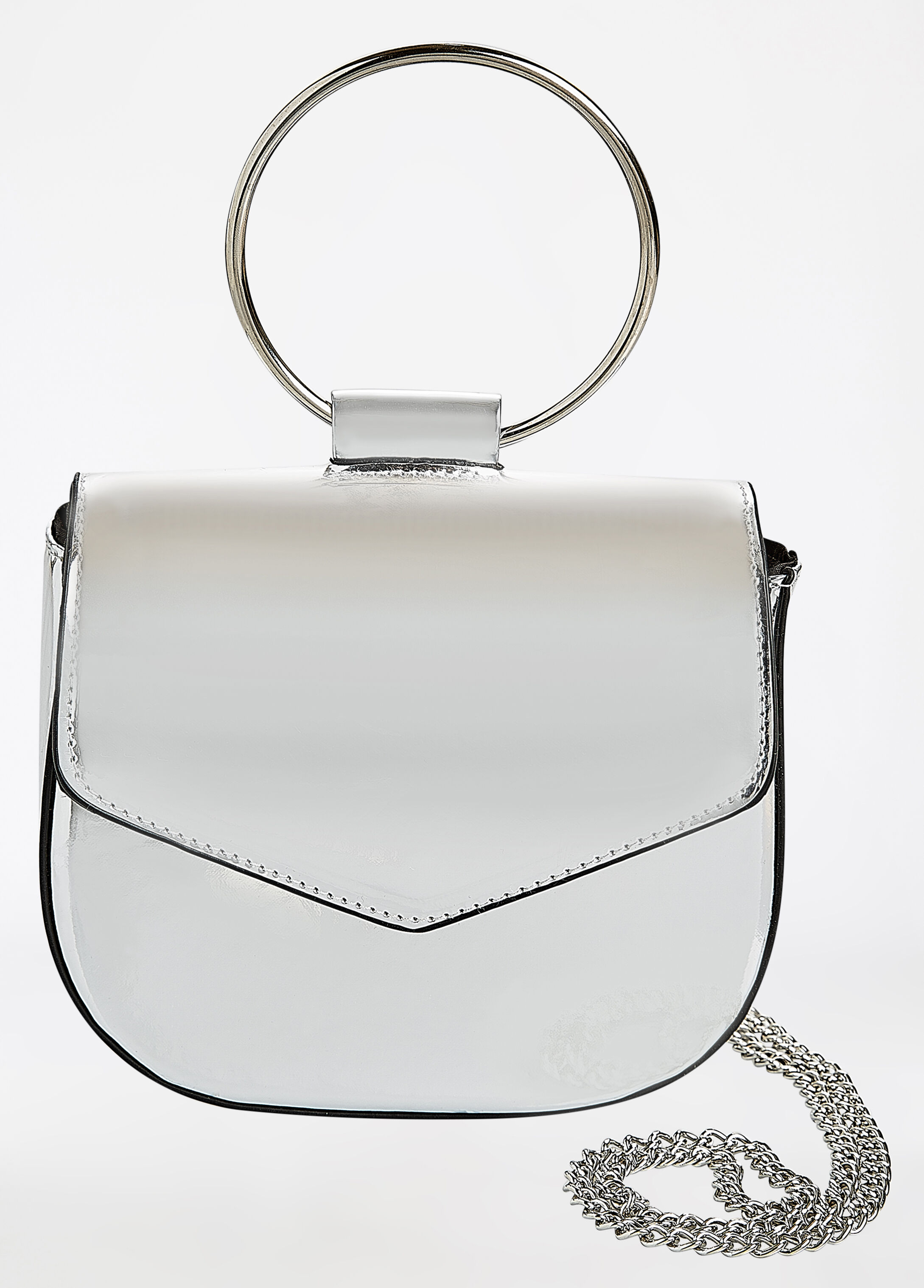 Dual Handle Flapover Bag