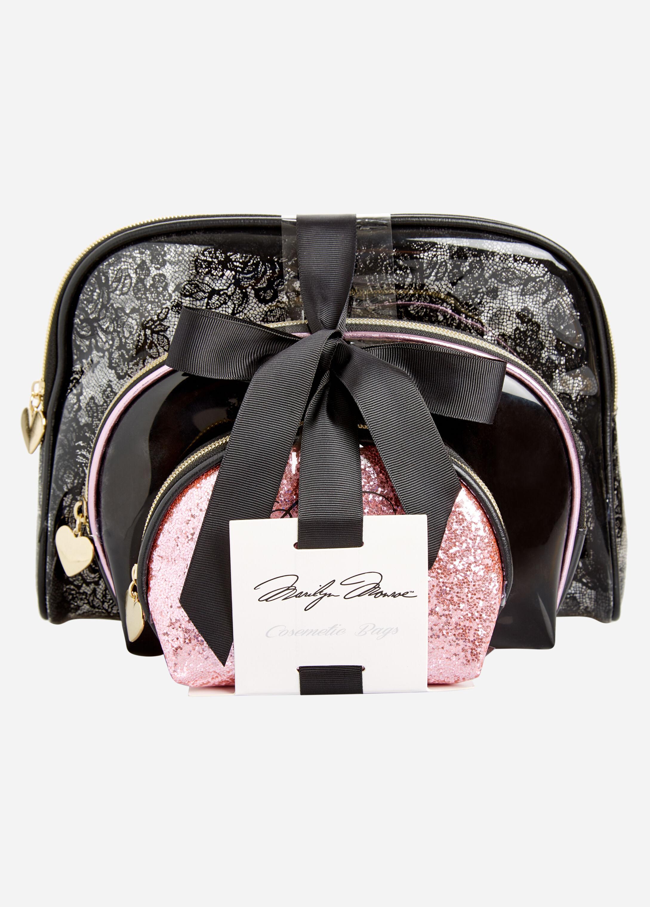 Marilyn Monroe 3-Piece Cosmetic Bag Set
