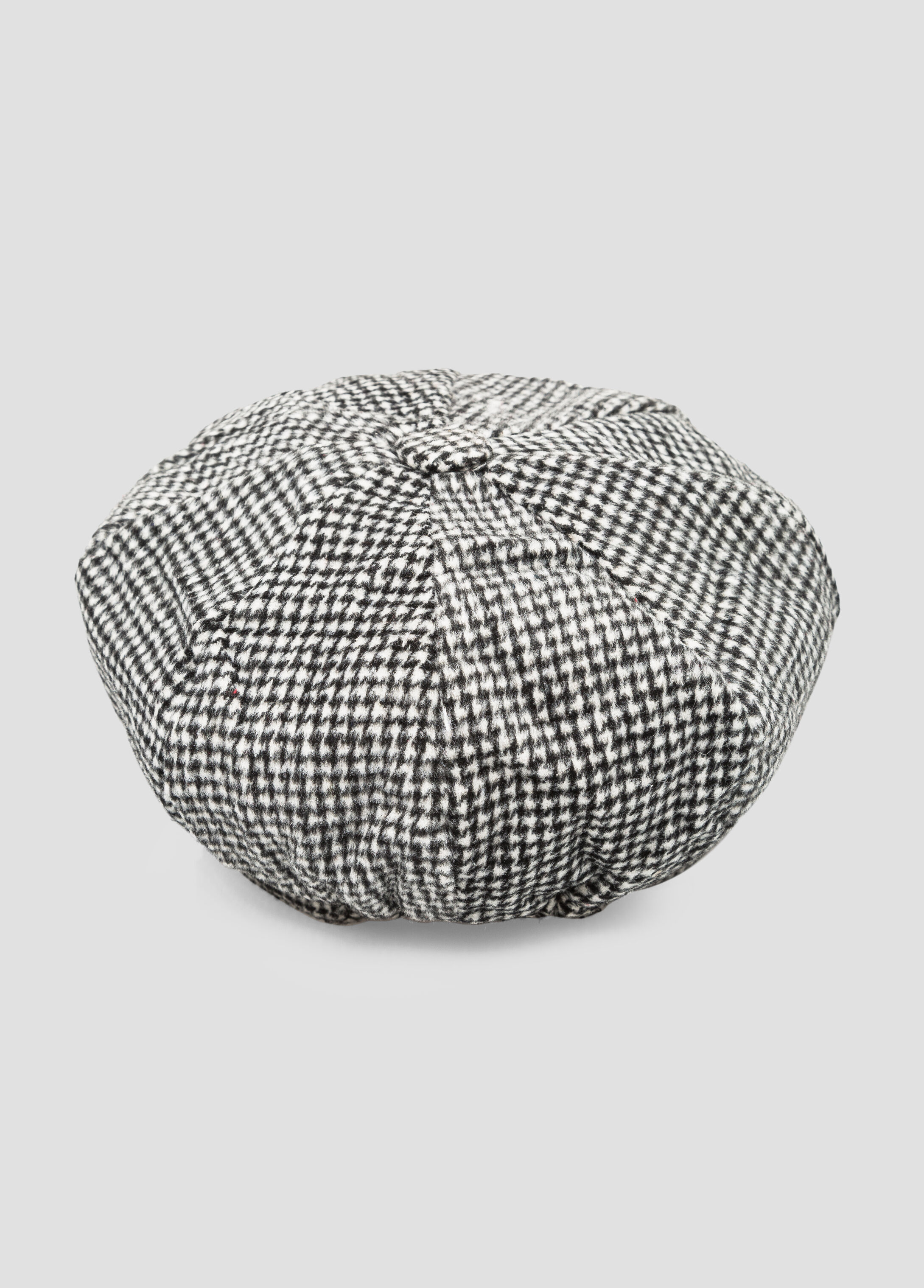 Houndstooth Chain Link Newsboy Cap
