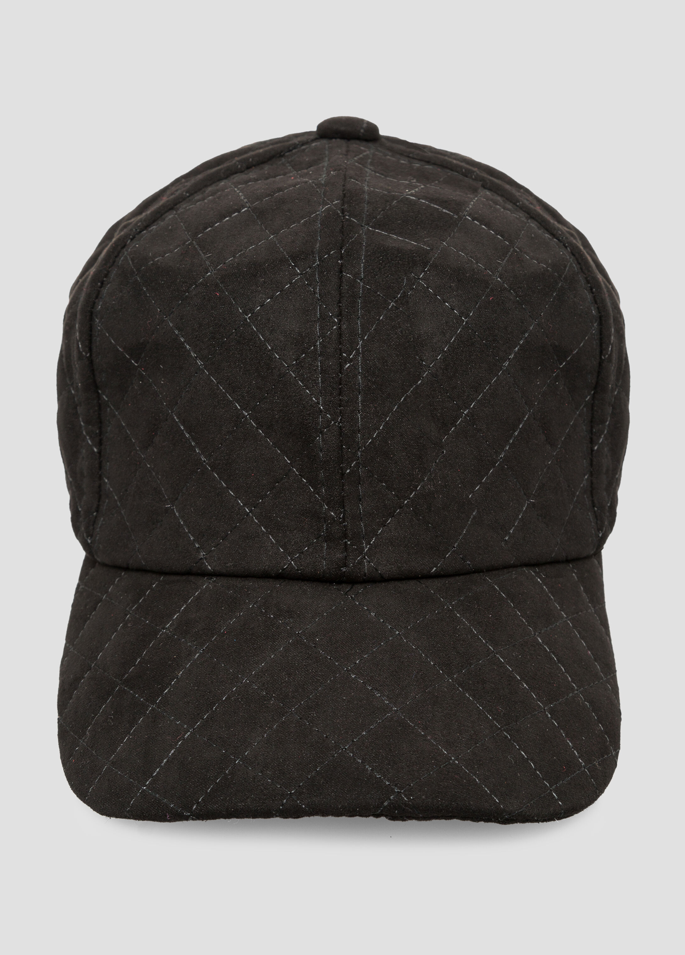 Microsuede Stitched Baseball Hat