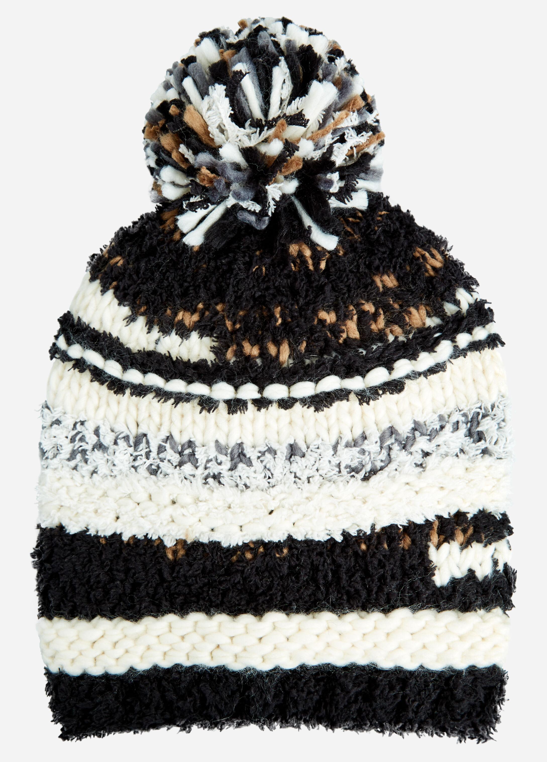 Marble Knit Pom Hat